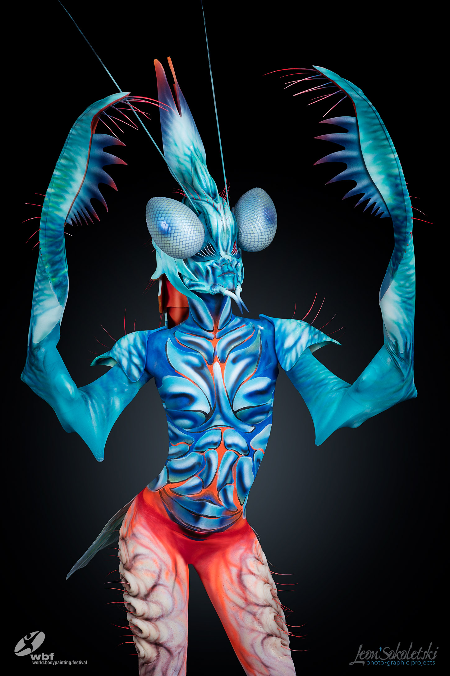 2nd Place, Special Effects Bodypainting Award WBF-2016