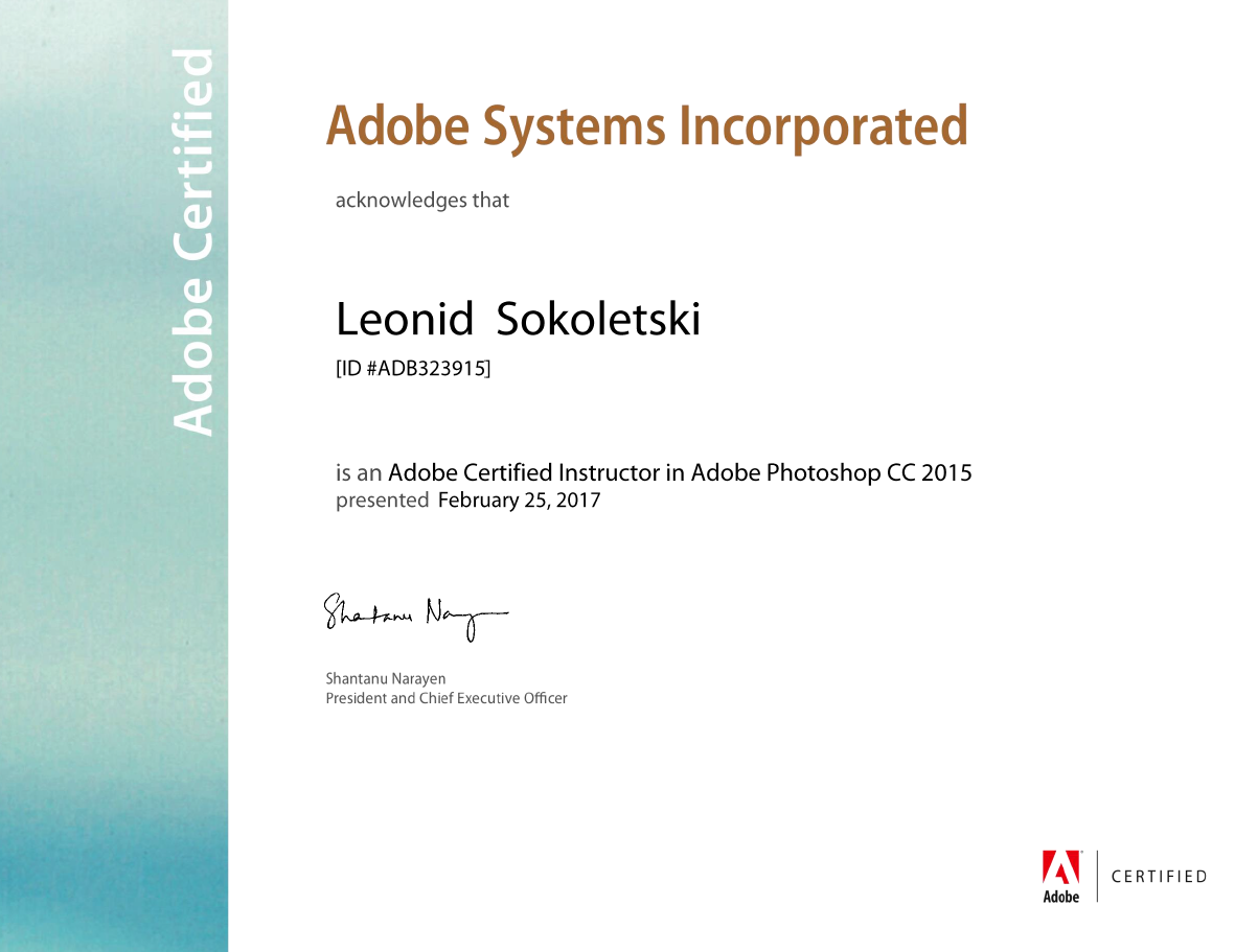 Adobe Certified Instructor — Photoshop CC 2015