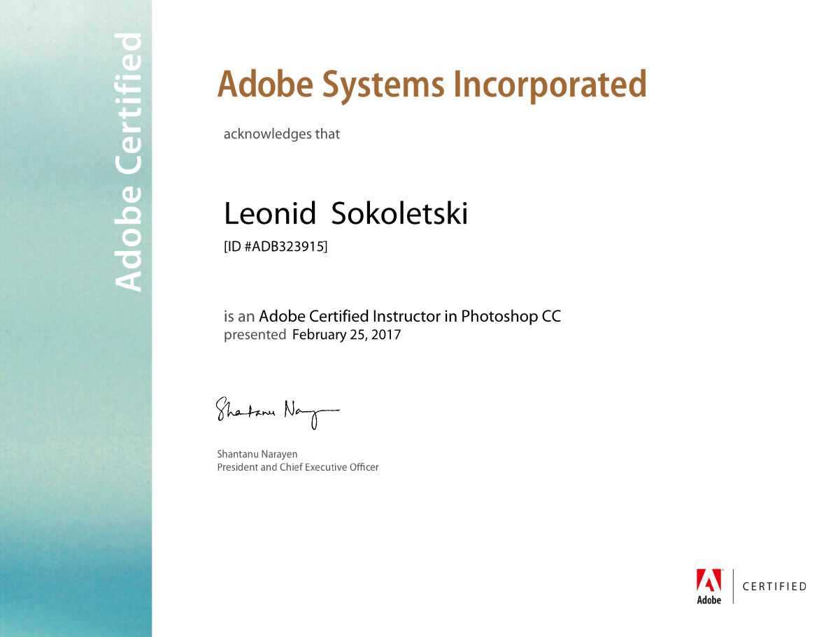 Adobe Certified Instructor — Photoshop CC