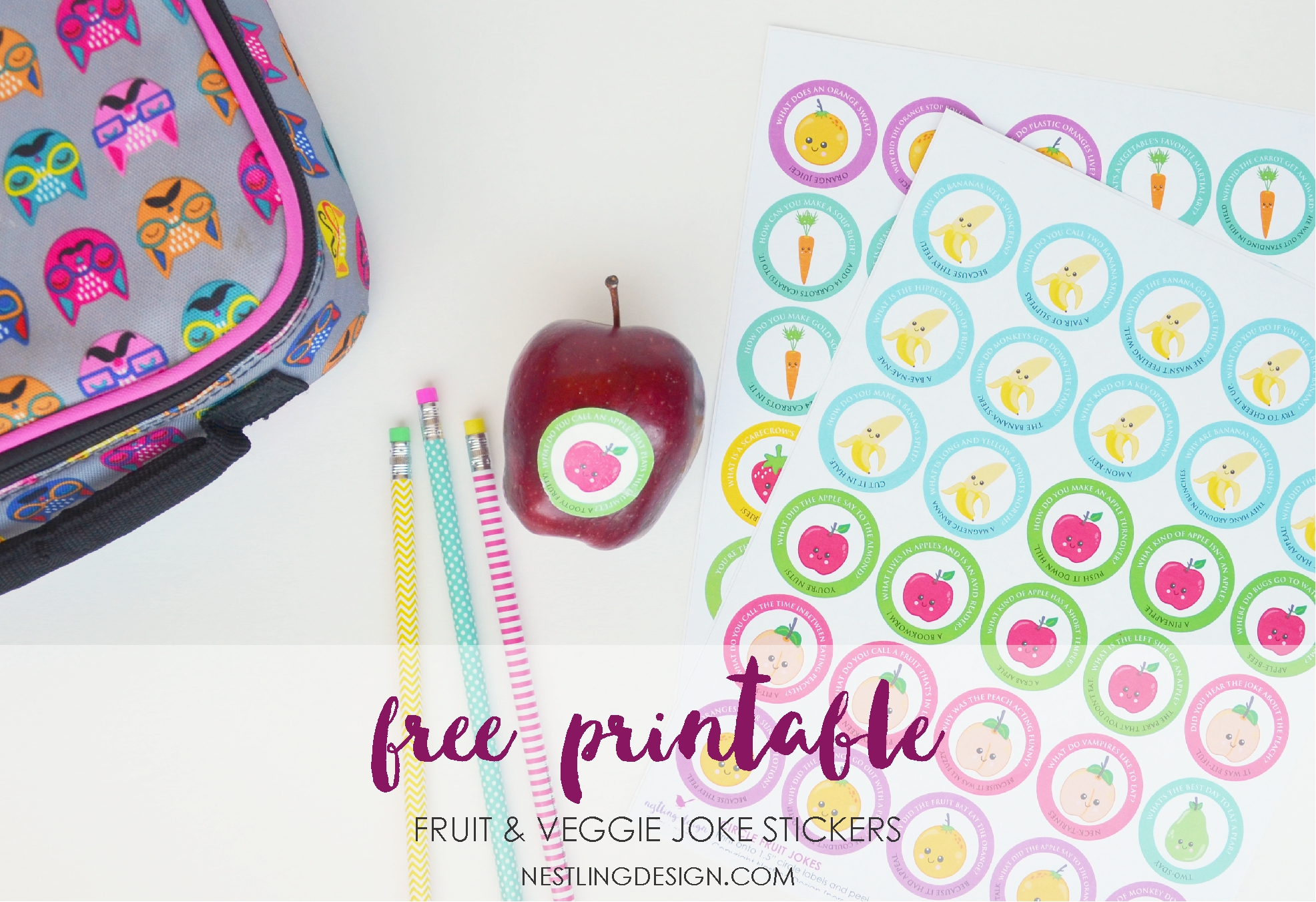 Nestling Design | Free Printable Joke Stickers