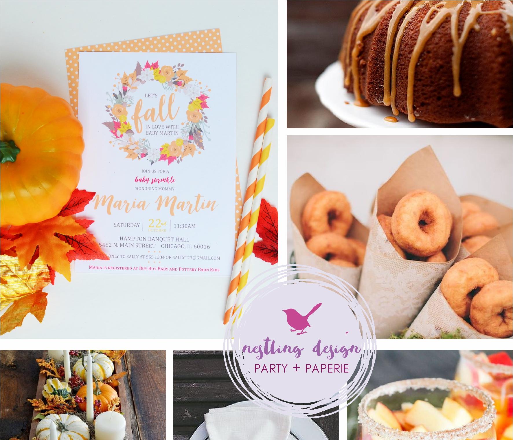 Fall Baby Shower Inspiration / NestlingDesign.com