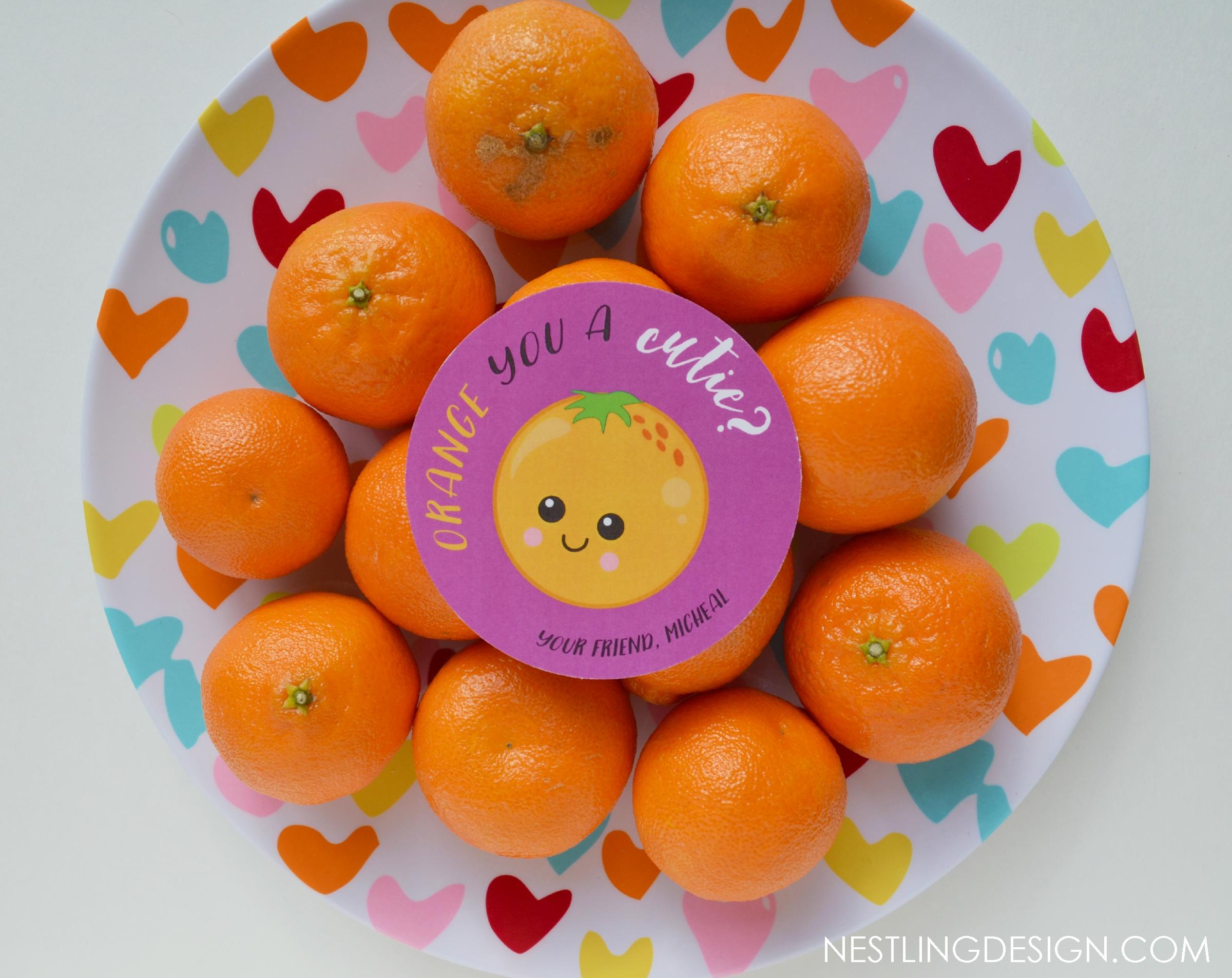 Orange You a Cutie Valentines