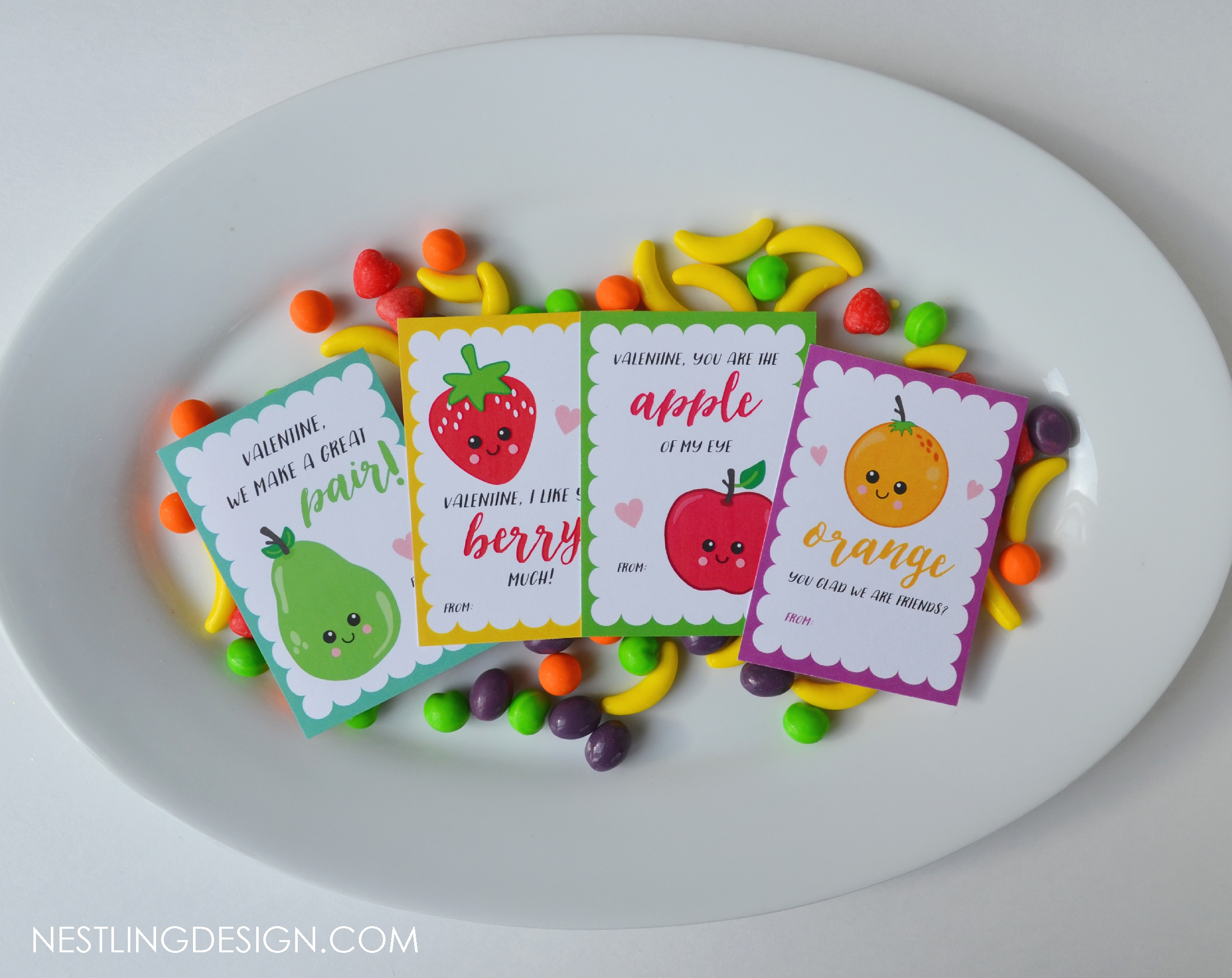 Fruit Valentines - Instant Download Only