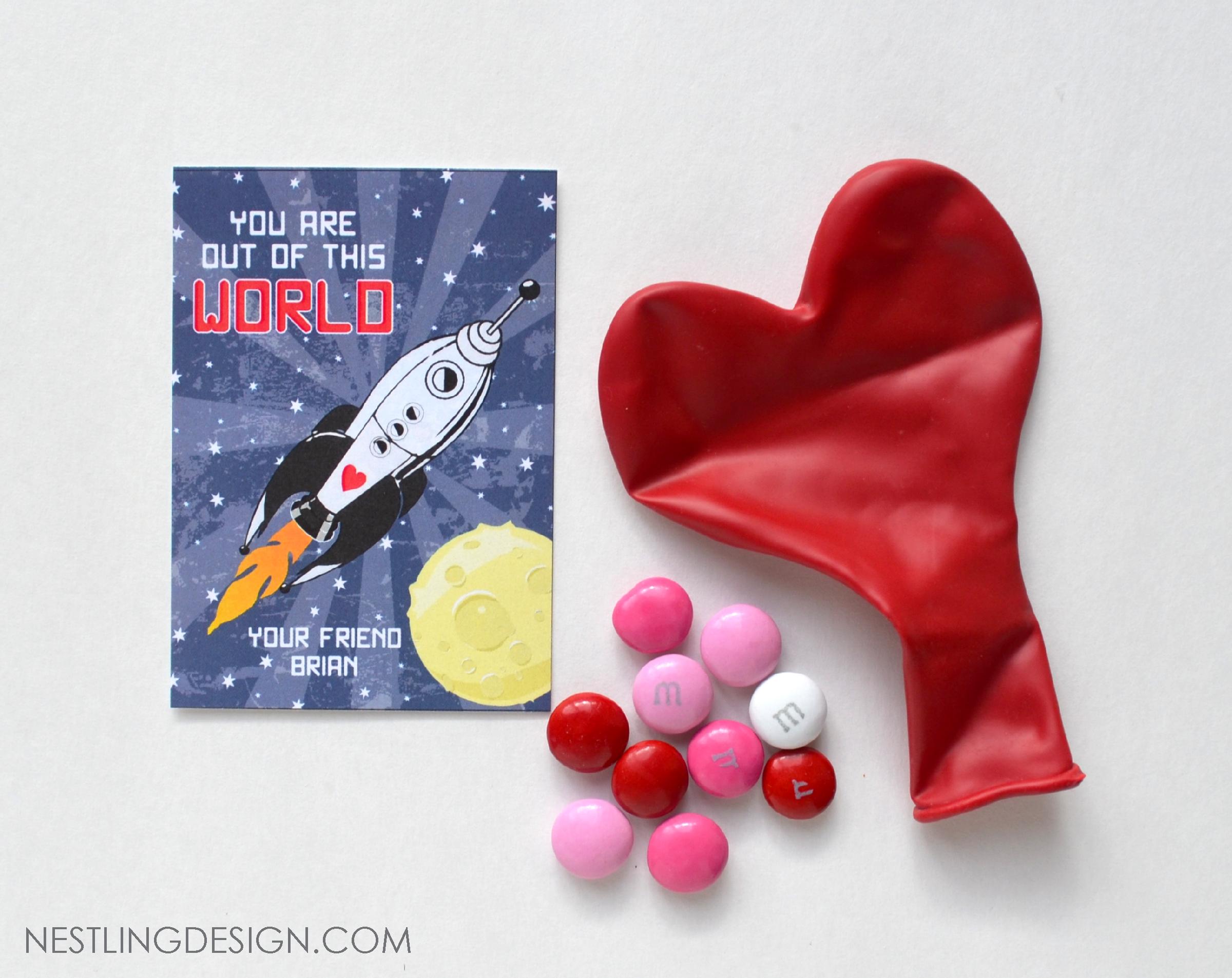 Rocket Ship Valentine