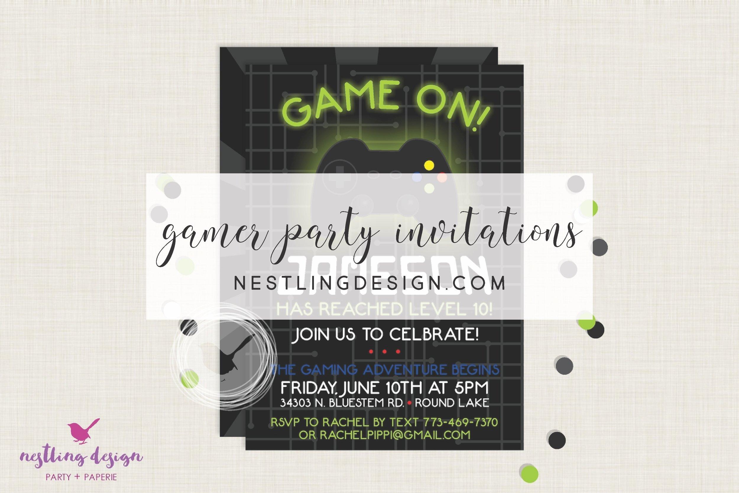 Gaming Invitation
