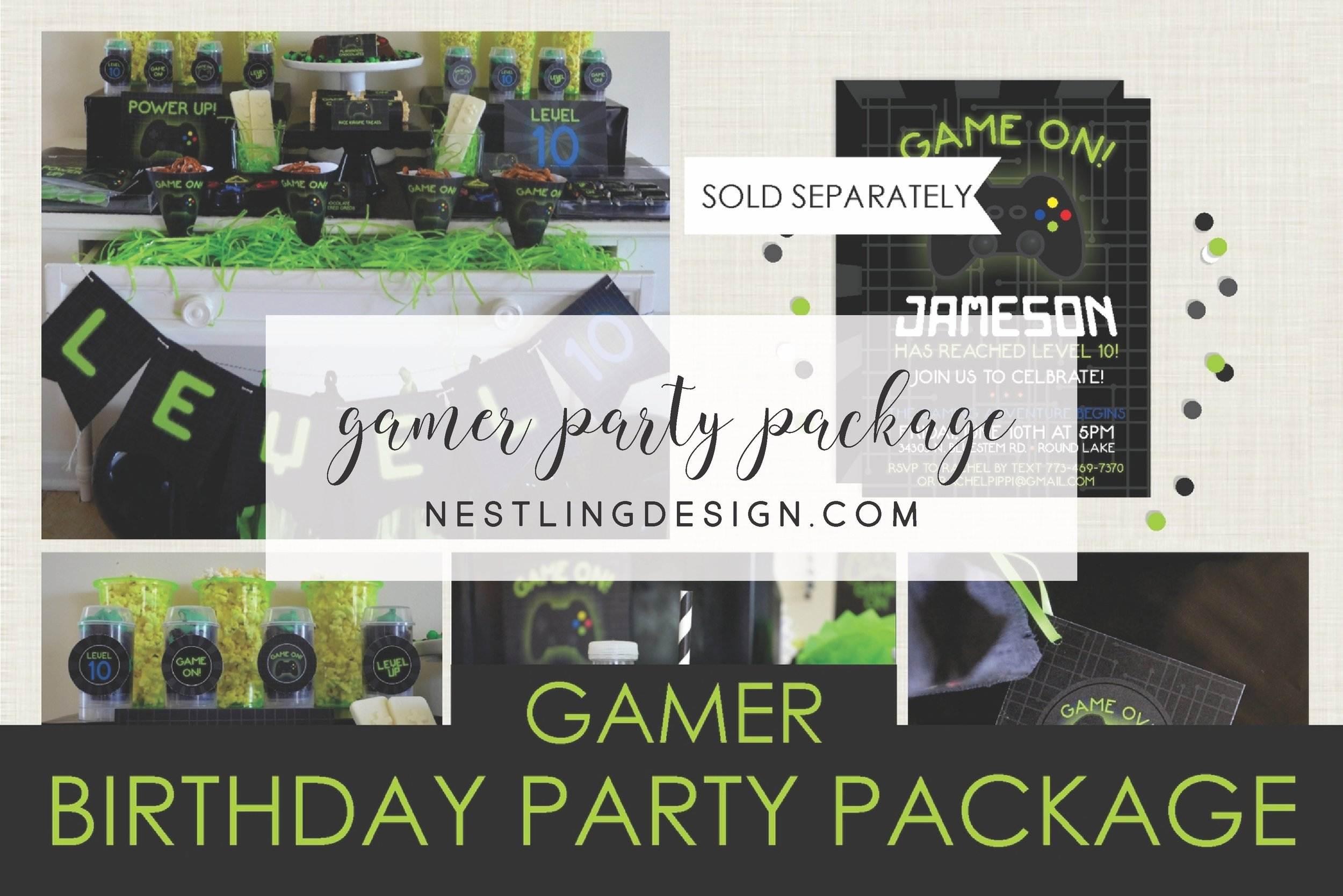 Gamer Party Pack