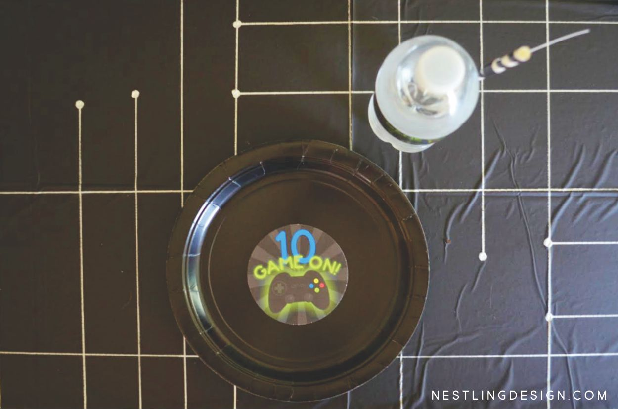 DIY Gaming Tablecloth | NestlingDesign.com