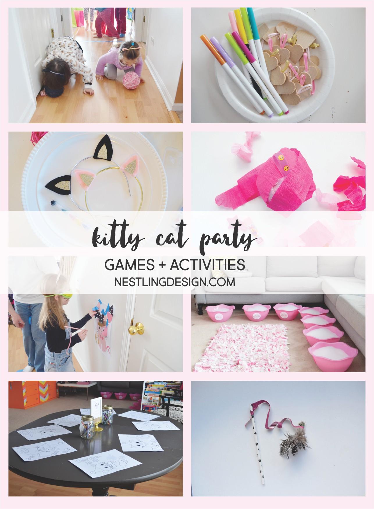 Kitty Cat Party Games | NestlingDesign.com