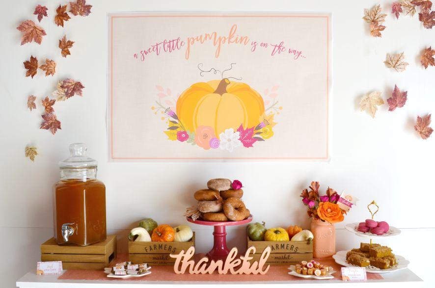 Little Pumpkin Baby Shower | NestlingDesign.com