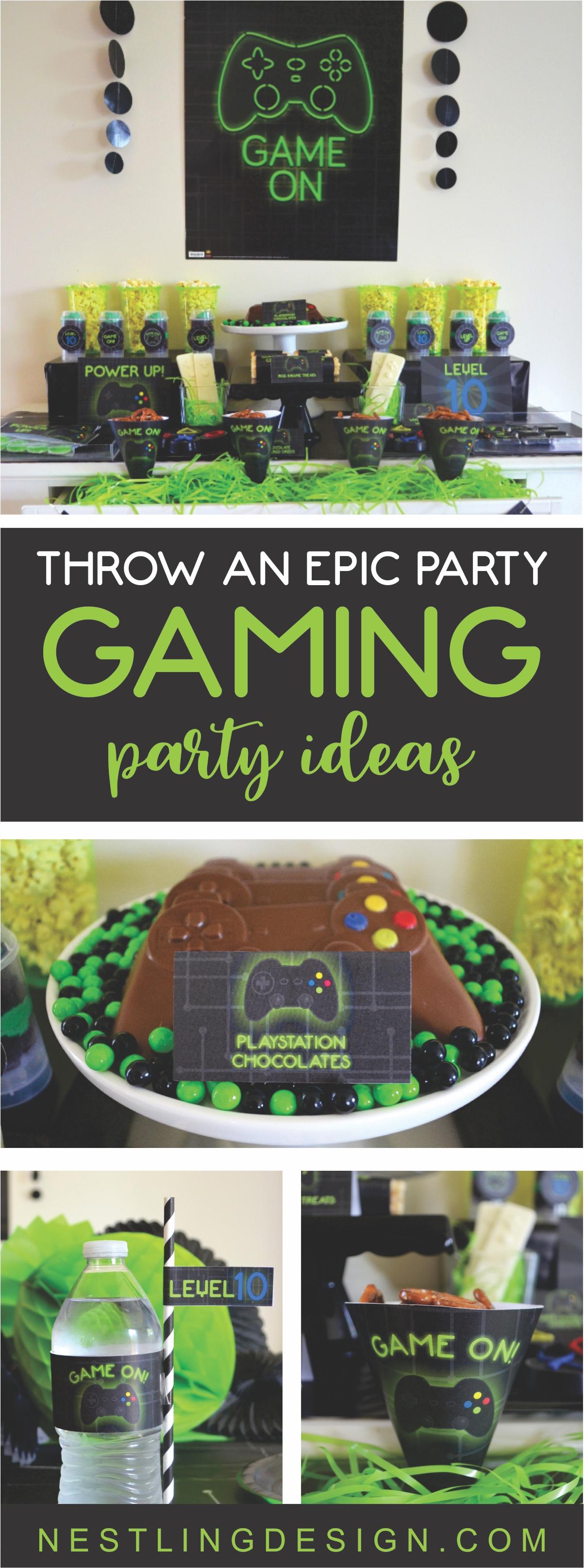 Epic Gaming Party Ideas   NestlingDesign.com