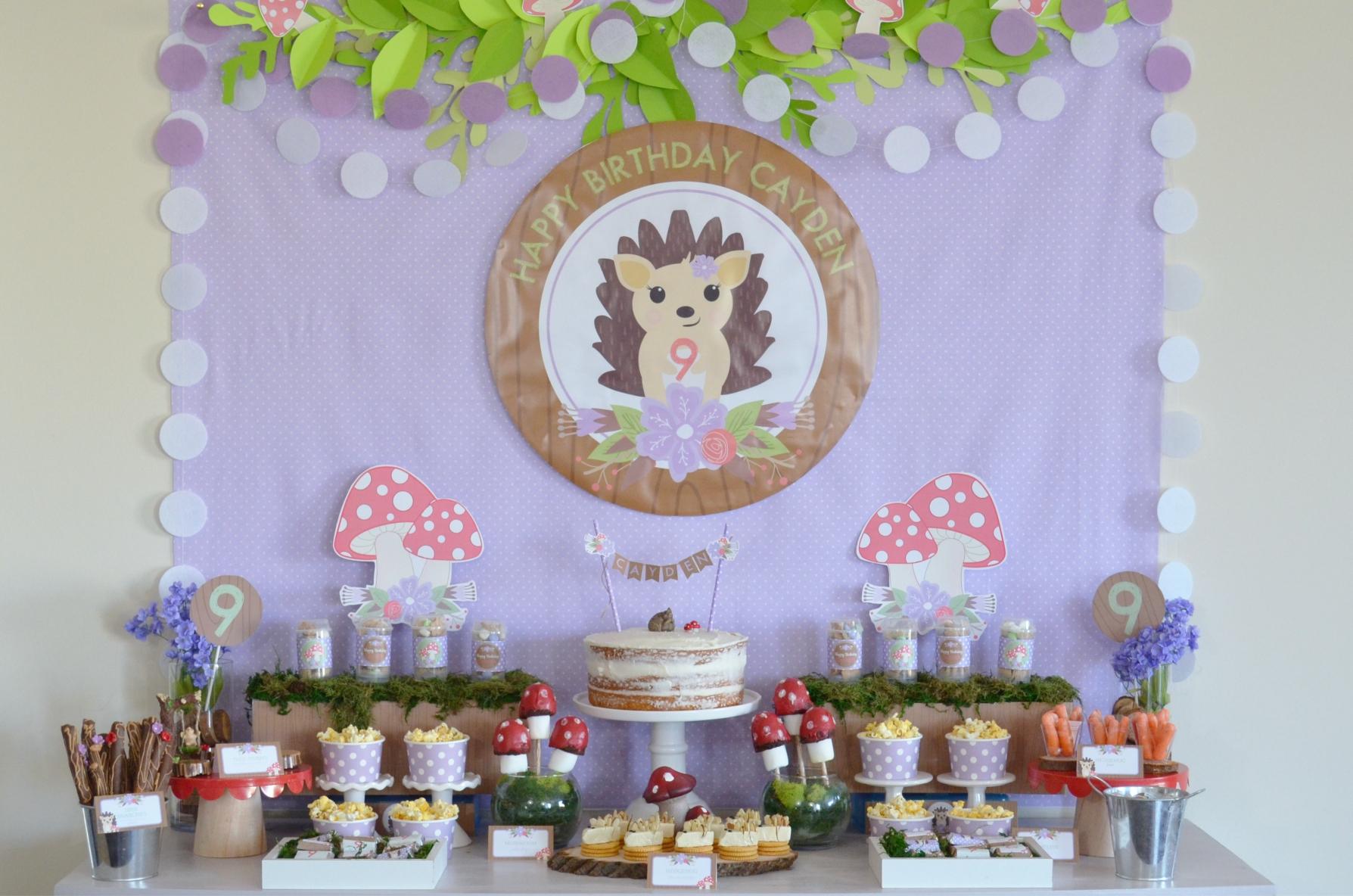 Woodland Hedgehog Party