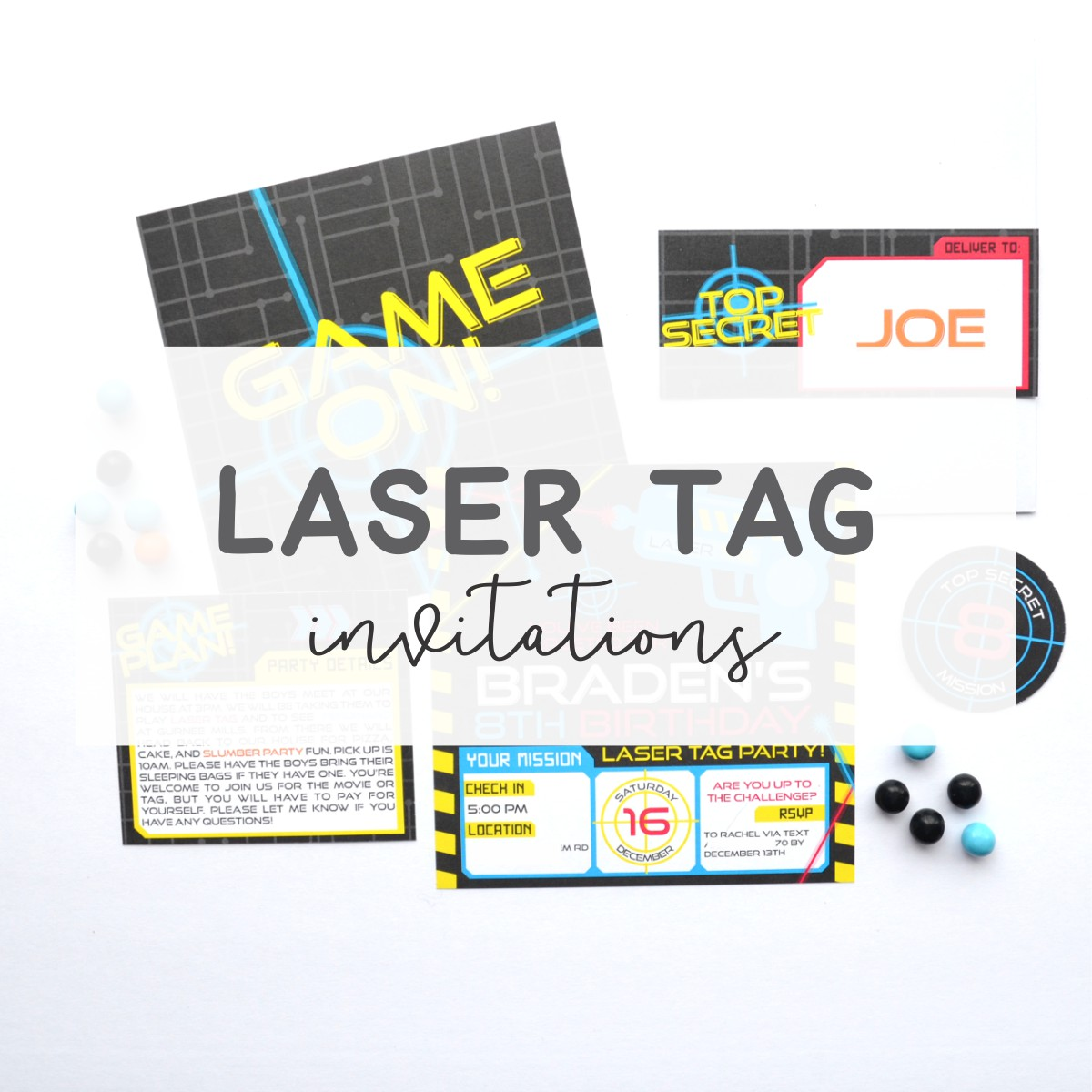 Laser Tag Invitations