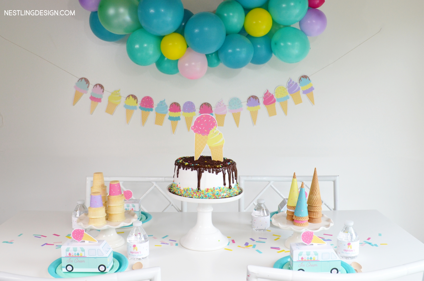 Ice cream party | NestlingDesign.com
