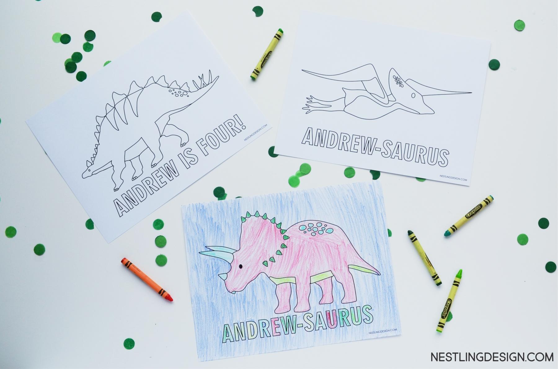 Dinosaur Party | Nestling Design.com