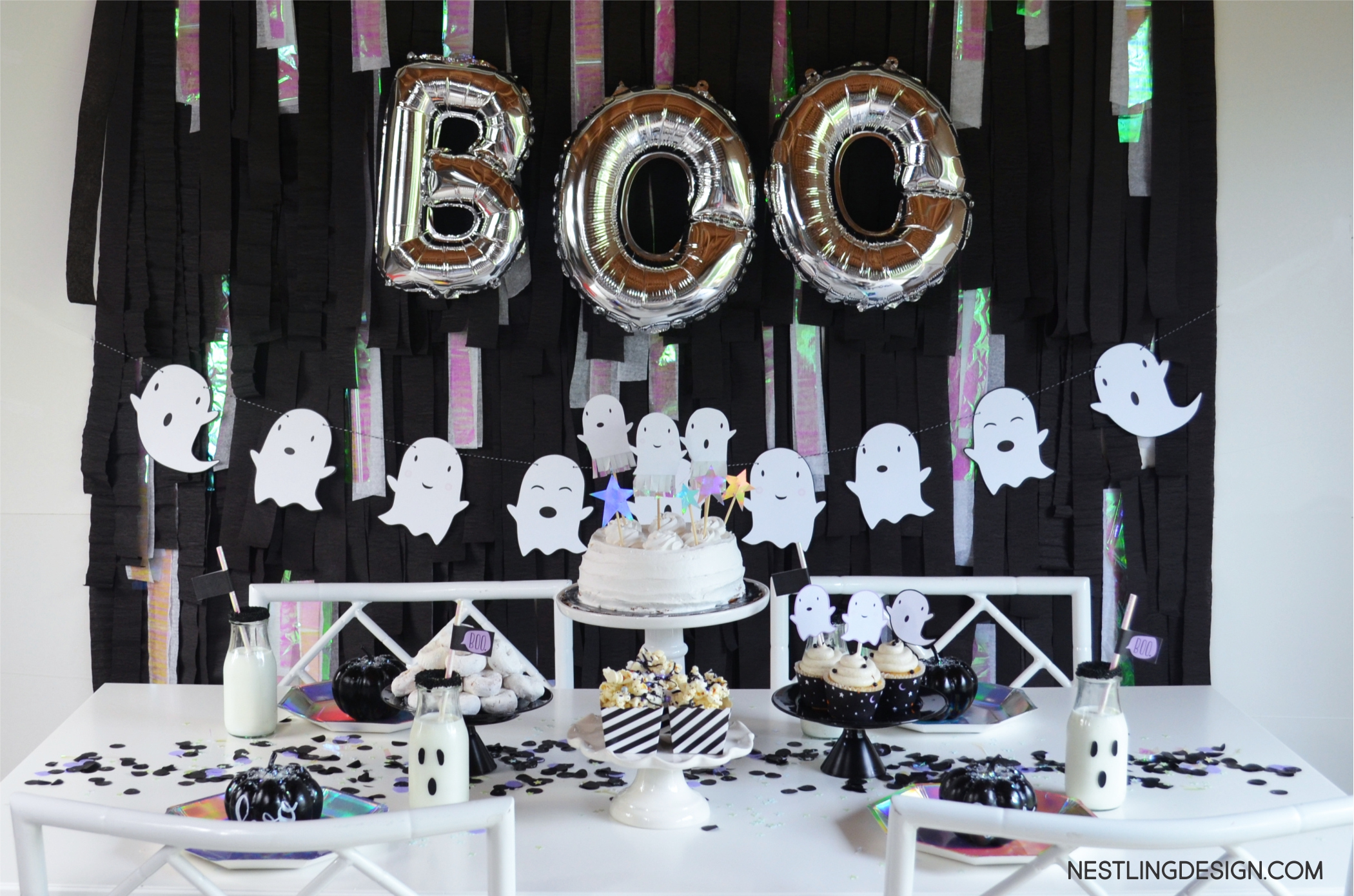 Halloween Ghost Party | NestlingDesign.com
