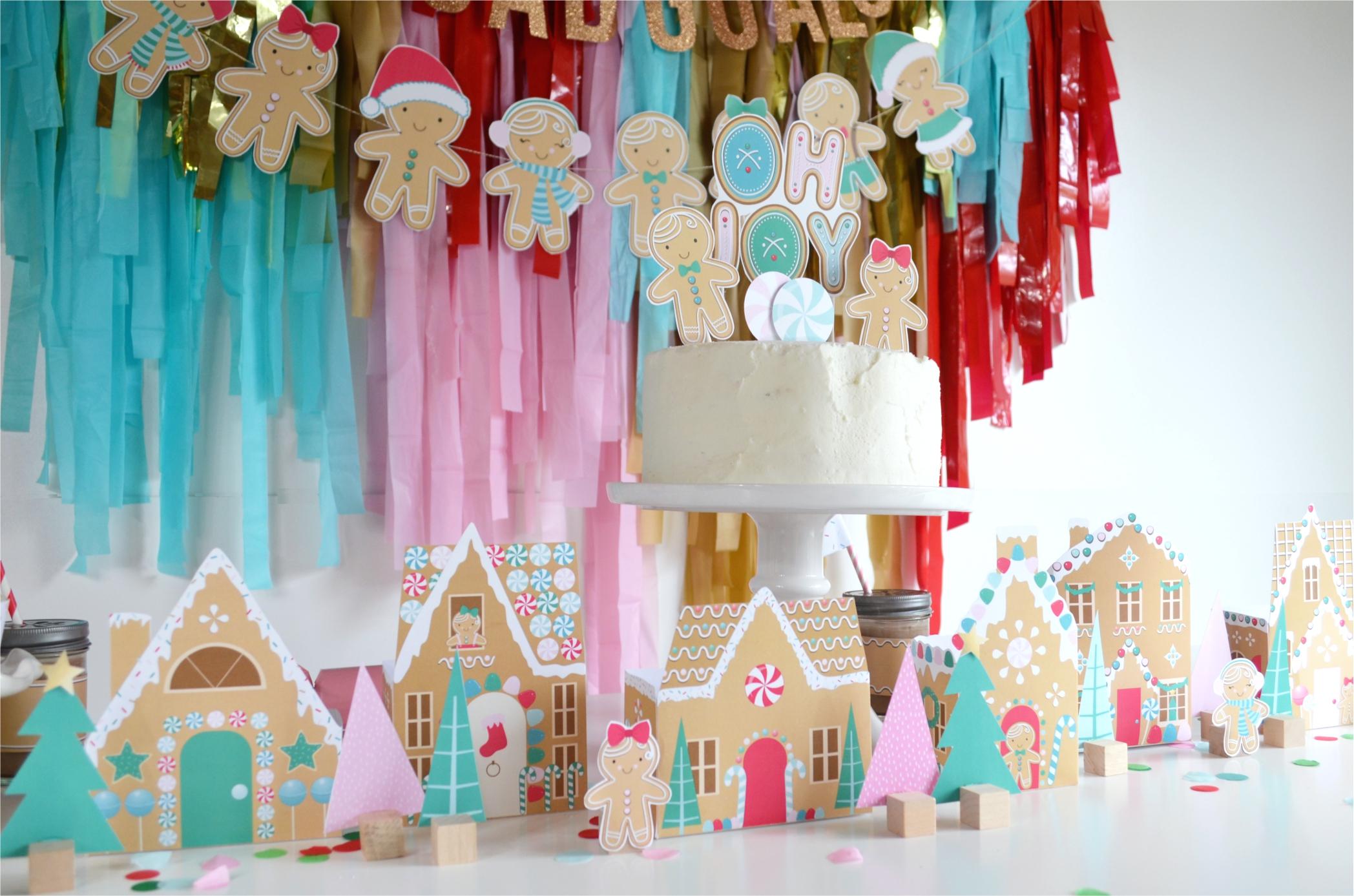 Gingerbread Christmas Party | NestlingDesign.com