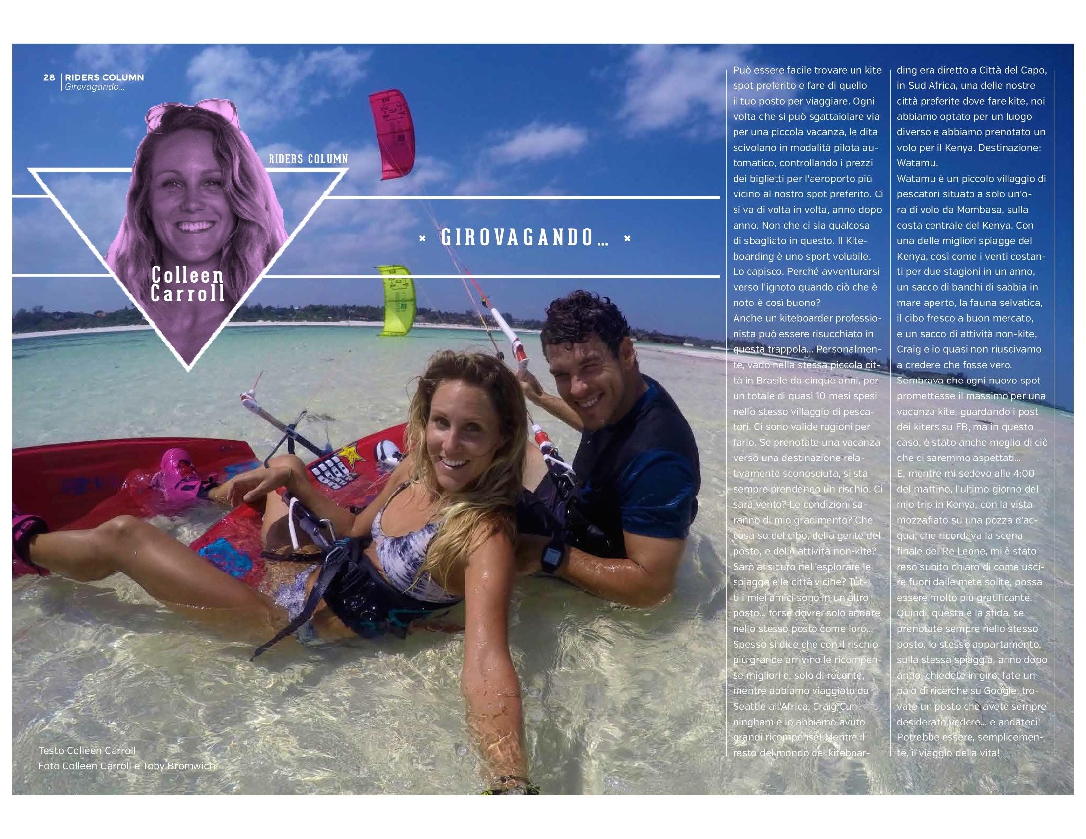 My Column in Italian magazine KiteSoul #11