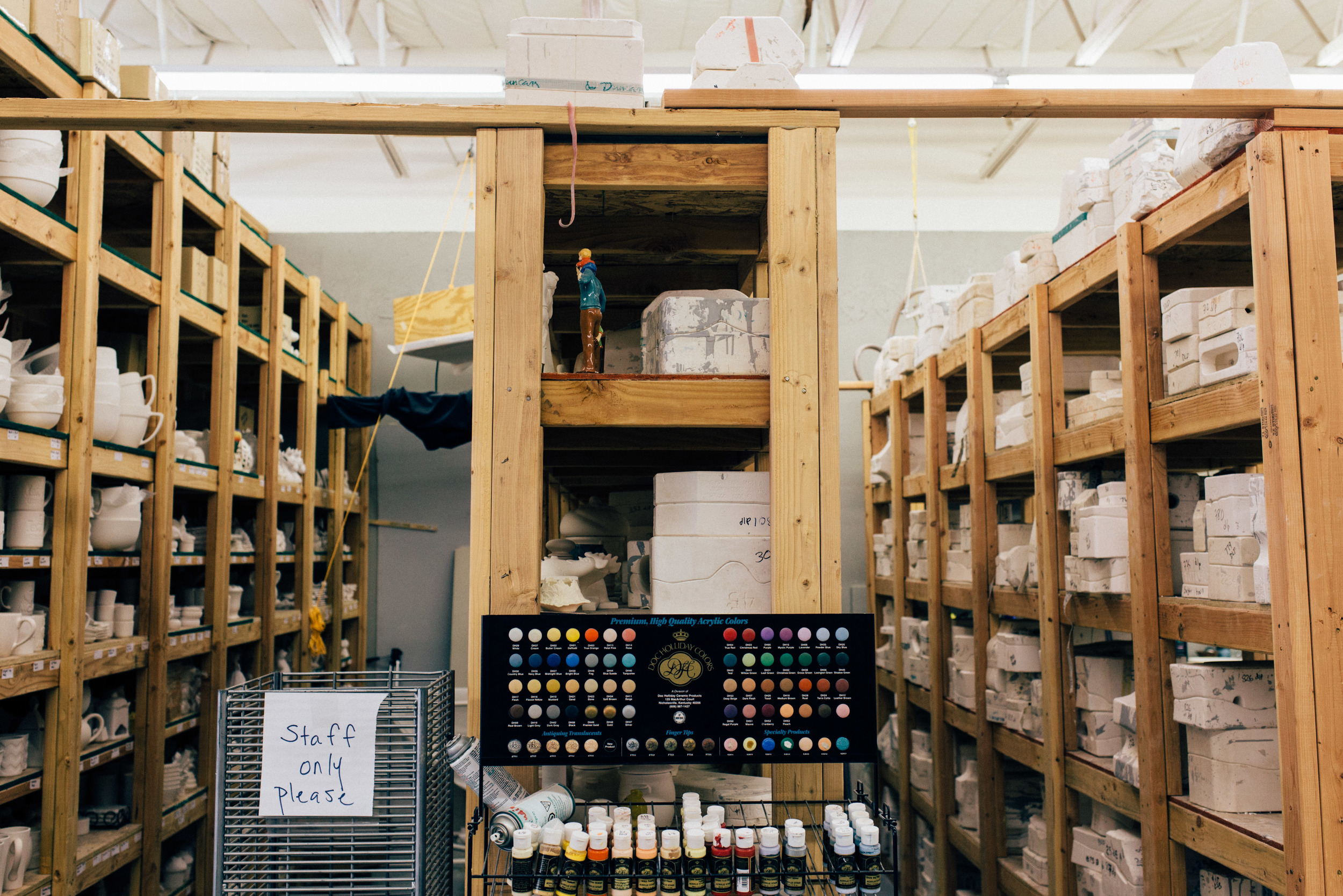 Pottery shelves interior social media photographer St George UT