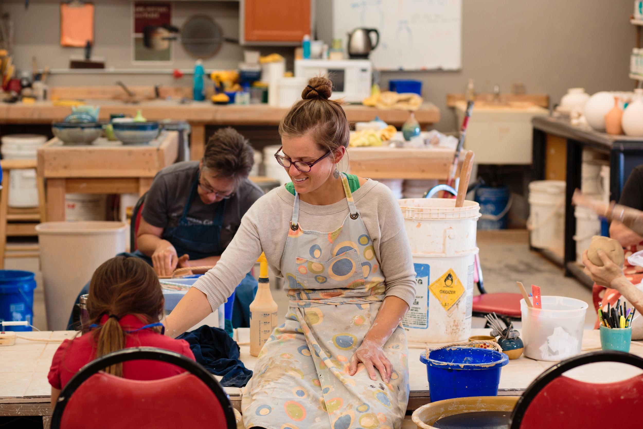 Pottery instructor teaching studio St George UT