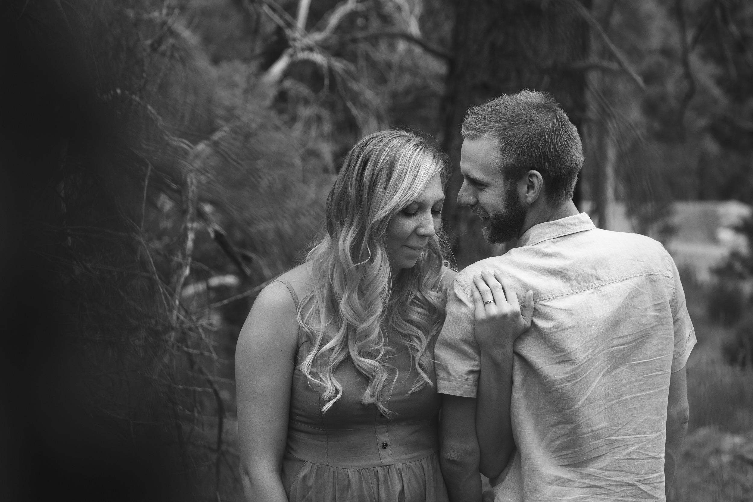 Intimate Moment Couple Portrait Pine Valley Utah Engagement