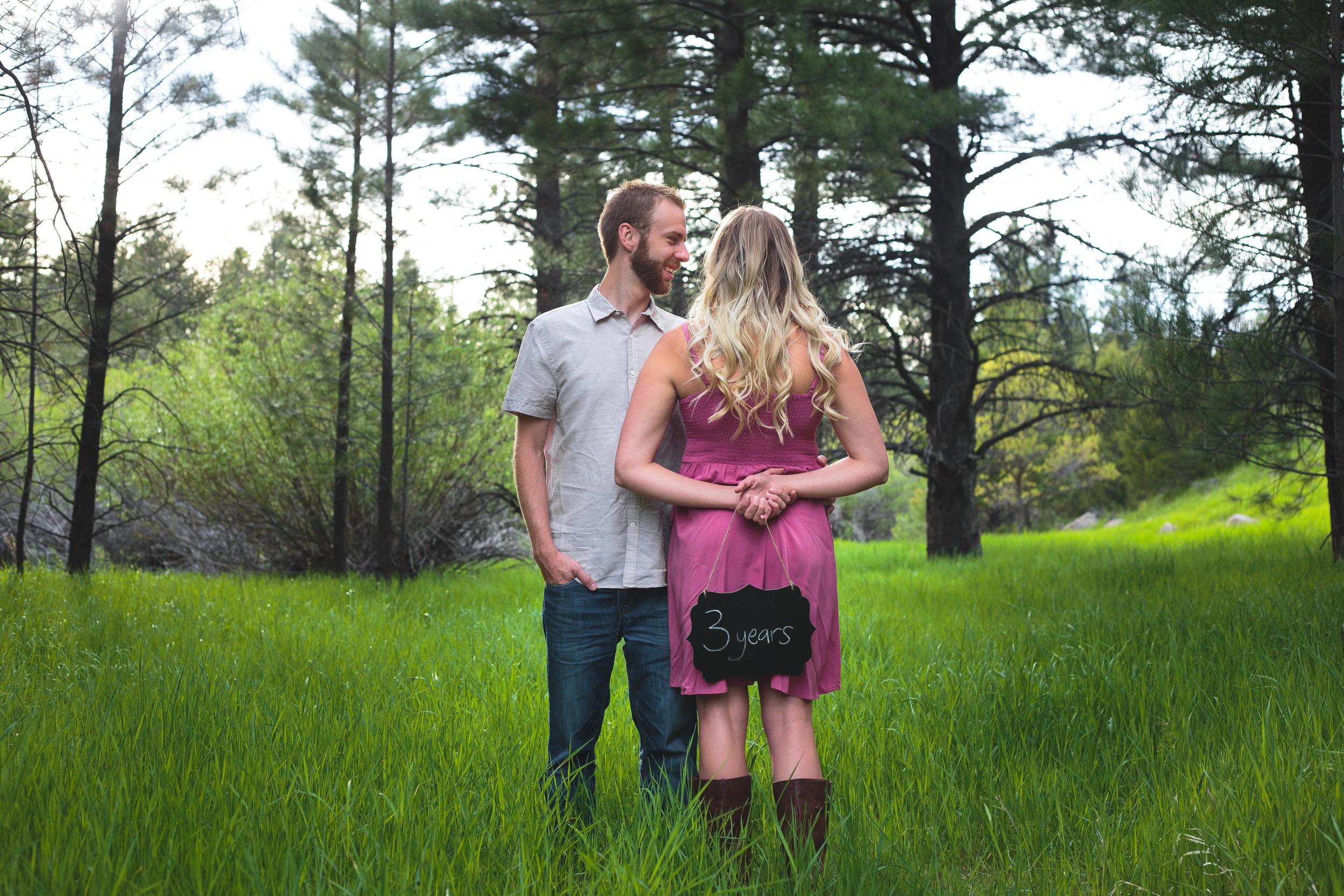 Three year anniversary photoshoot Pine Valley Utah