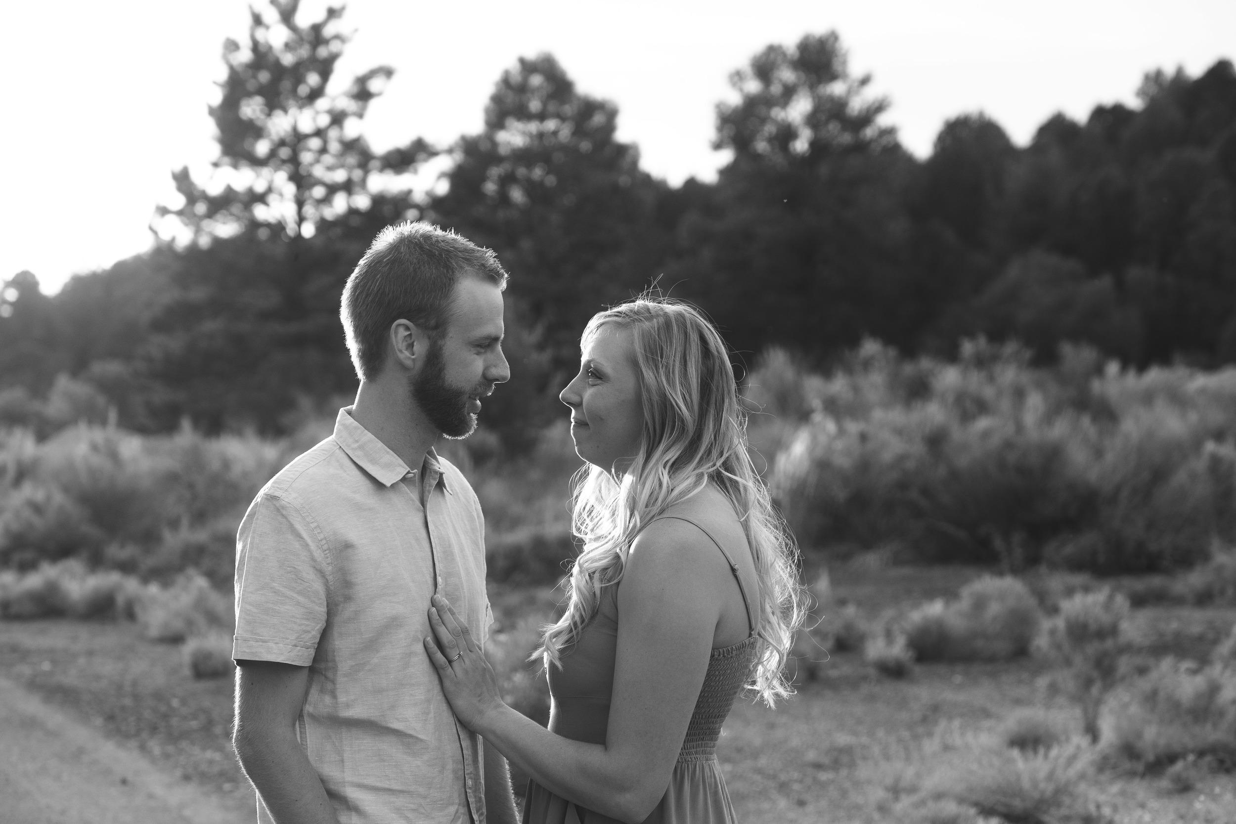 Black and White Couple's Photographer Portraits