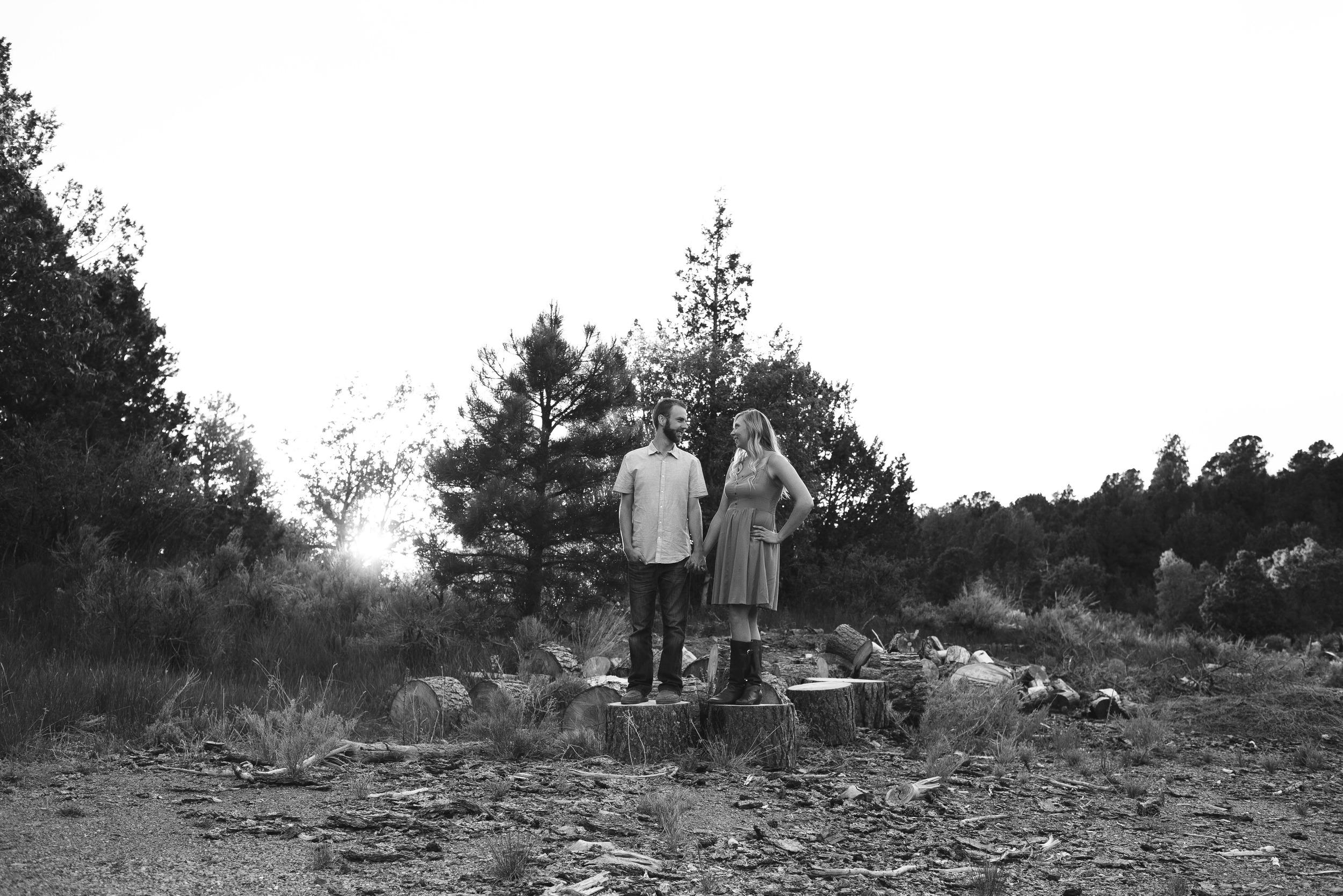 Black and white hybrid photographer couple Utah