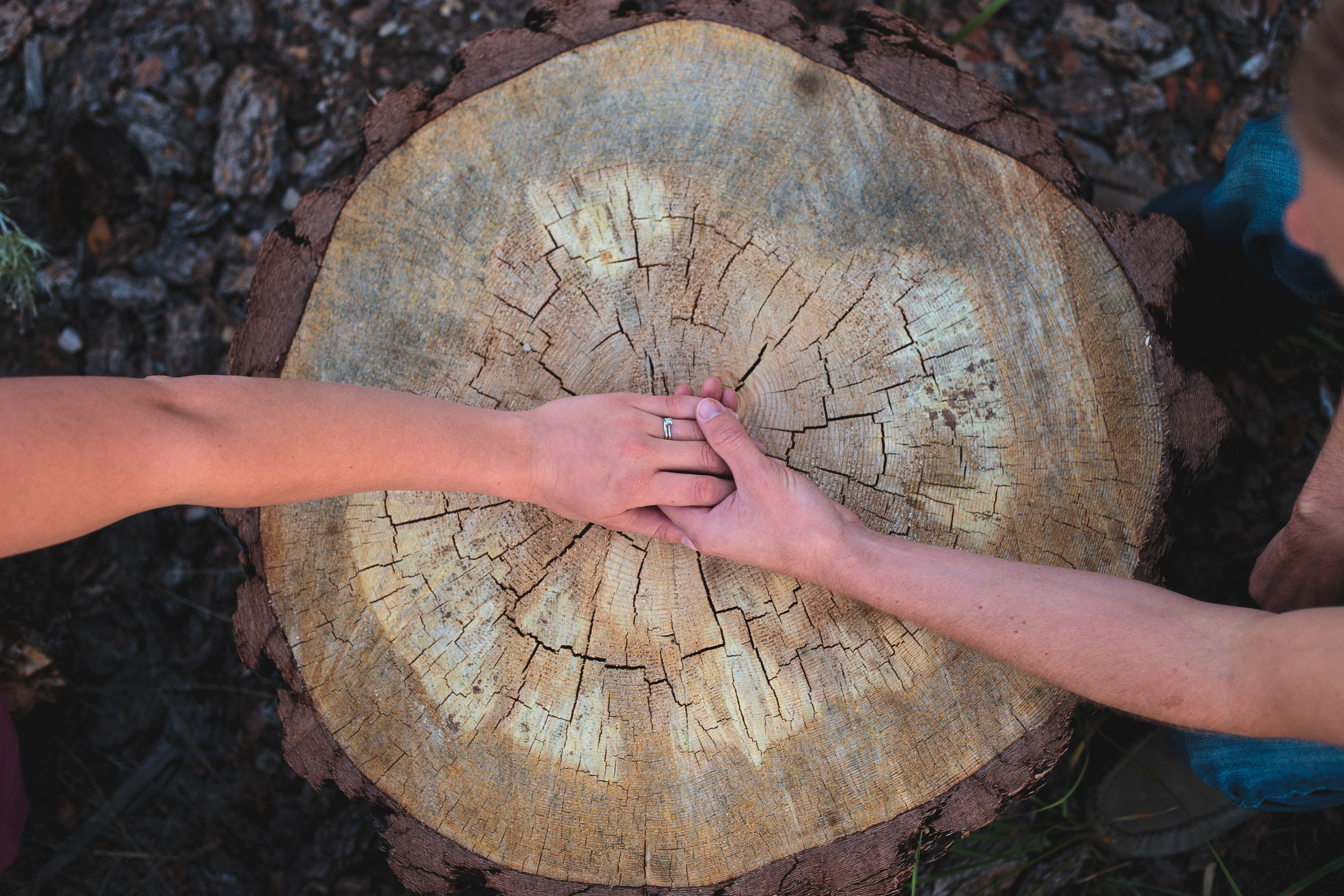 Trendy detail hands rings couple photography Southern Utah