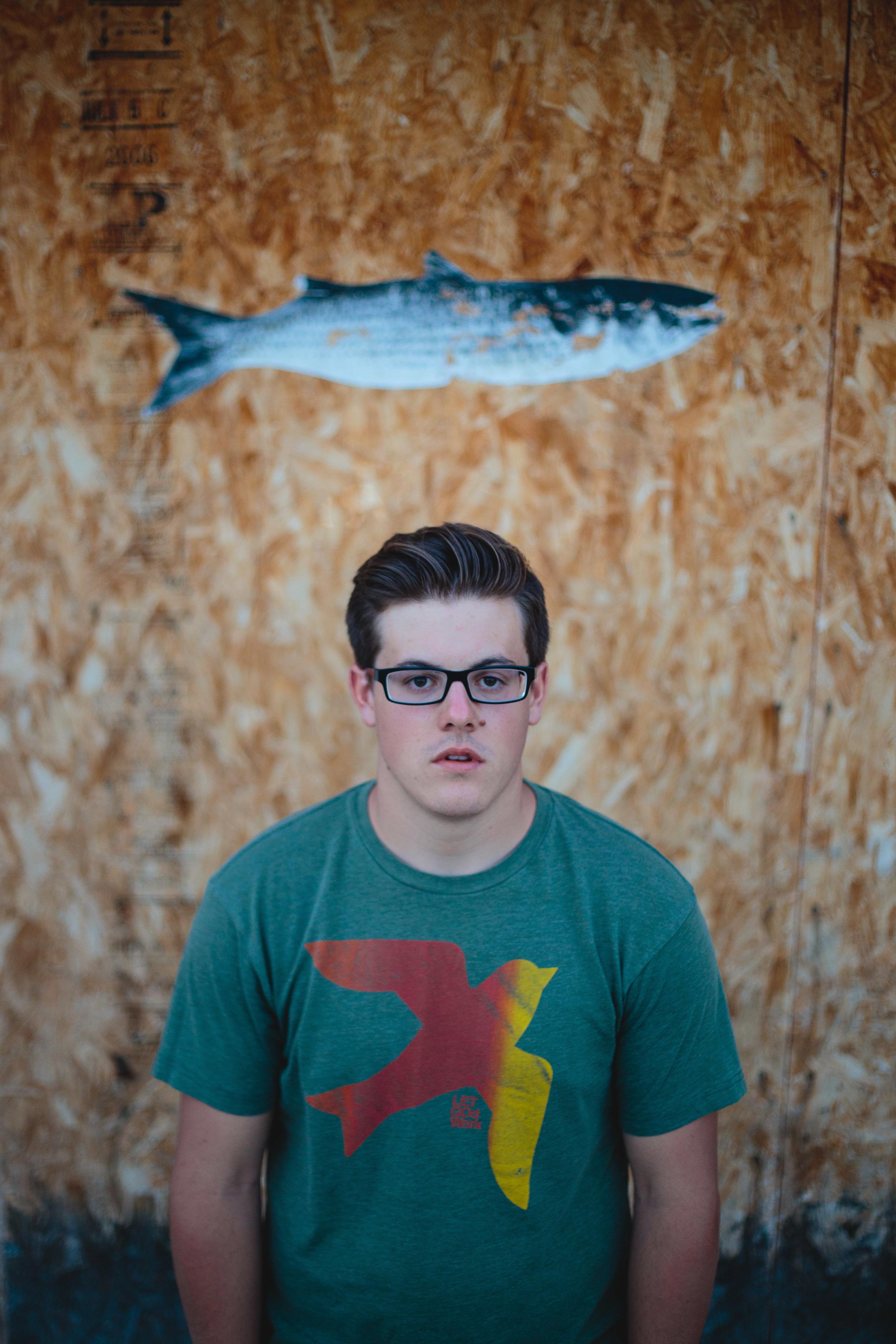 Singer-Songwriter weird portrait different fish