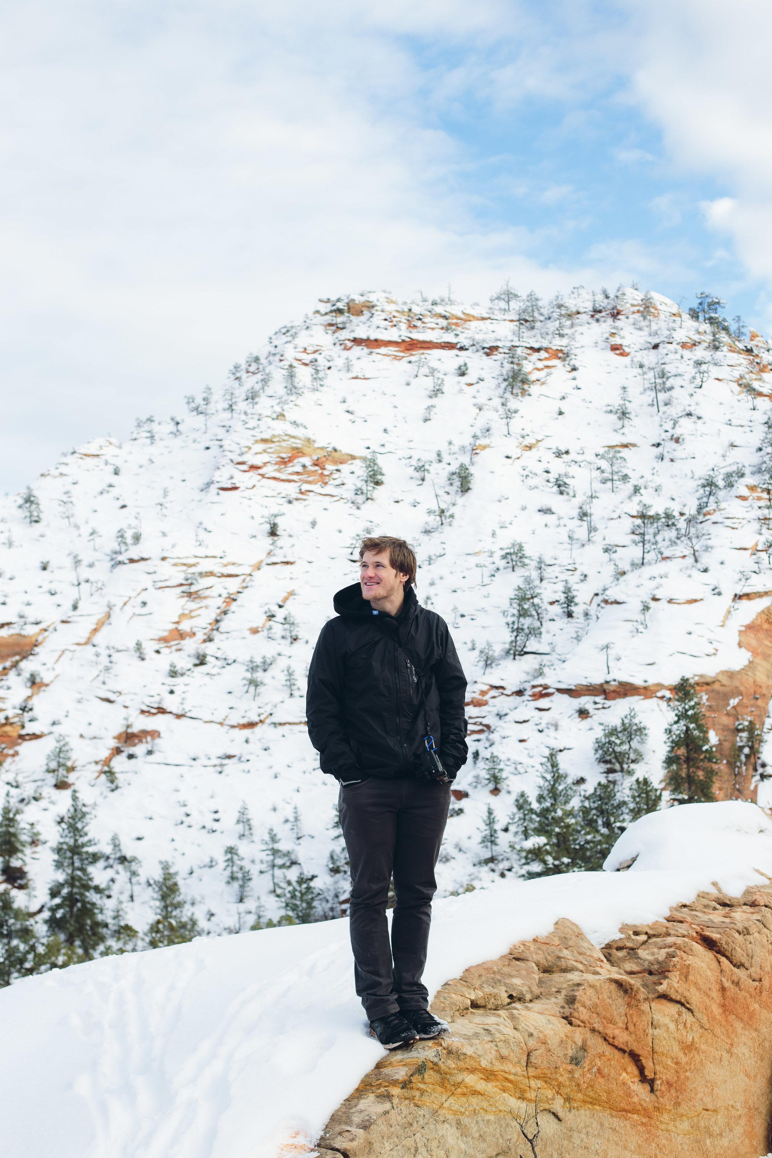 Zion National Park hikes winter portraits