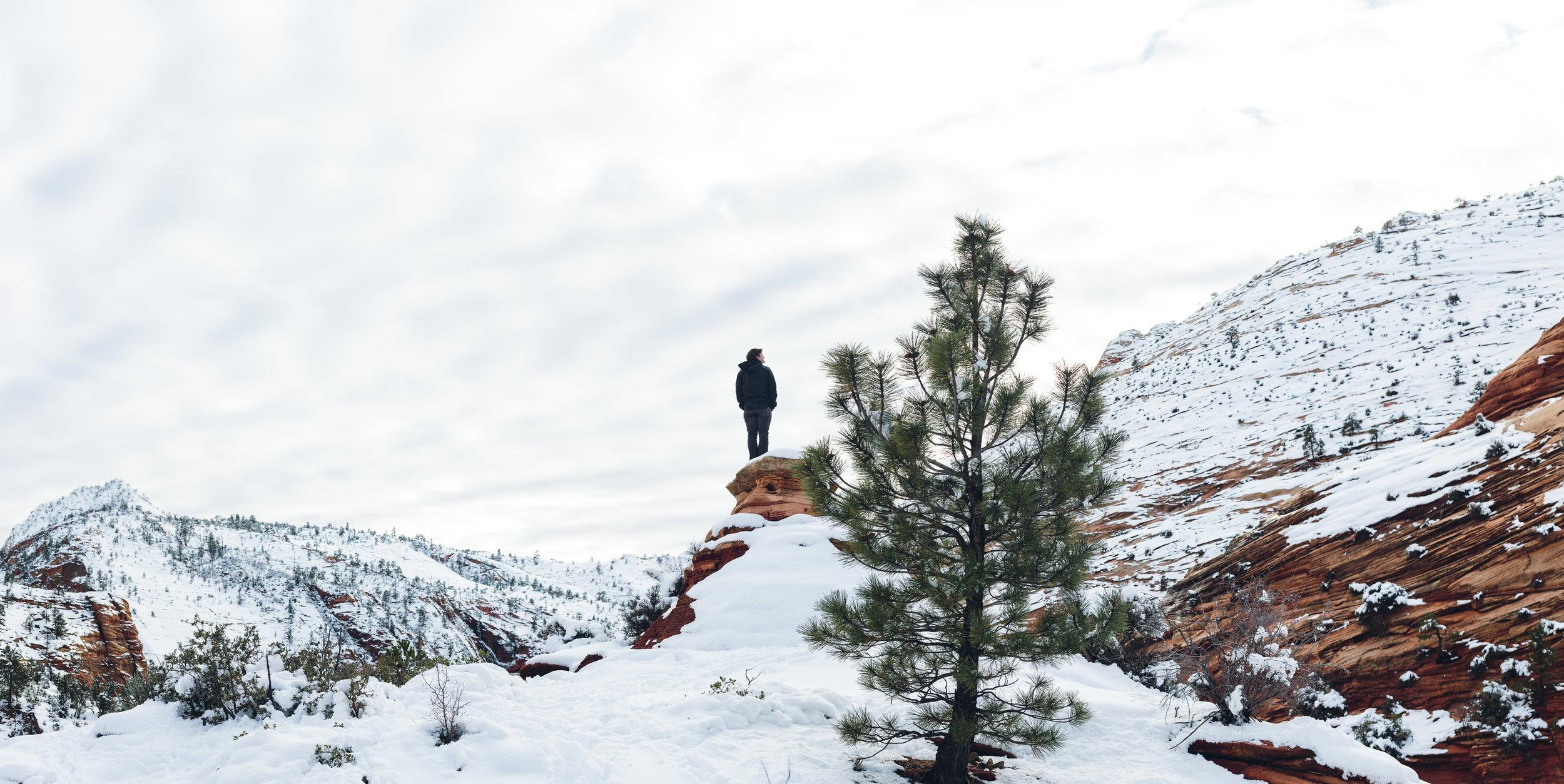 Zion National Park winter portraits