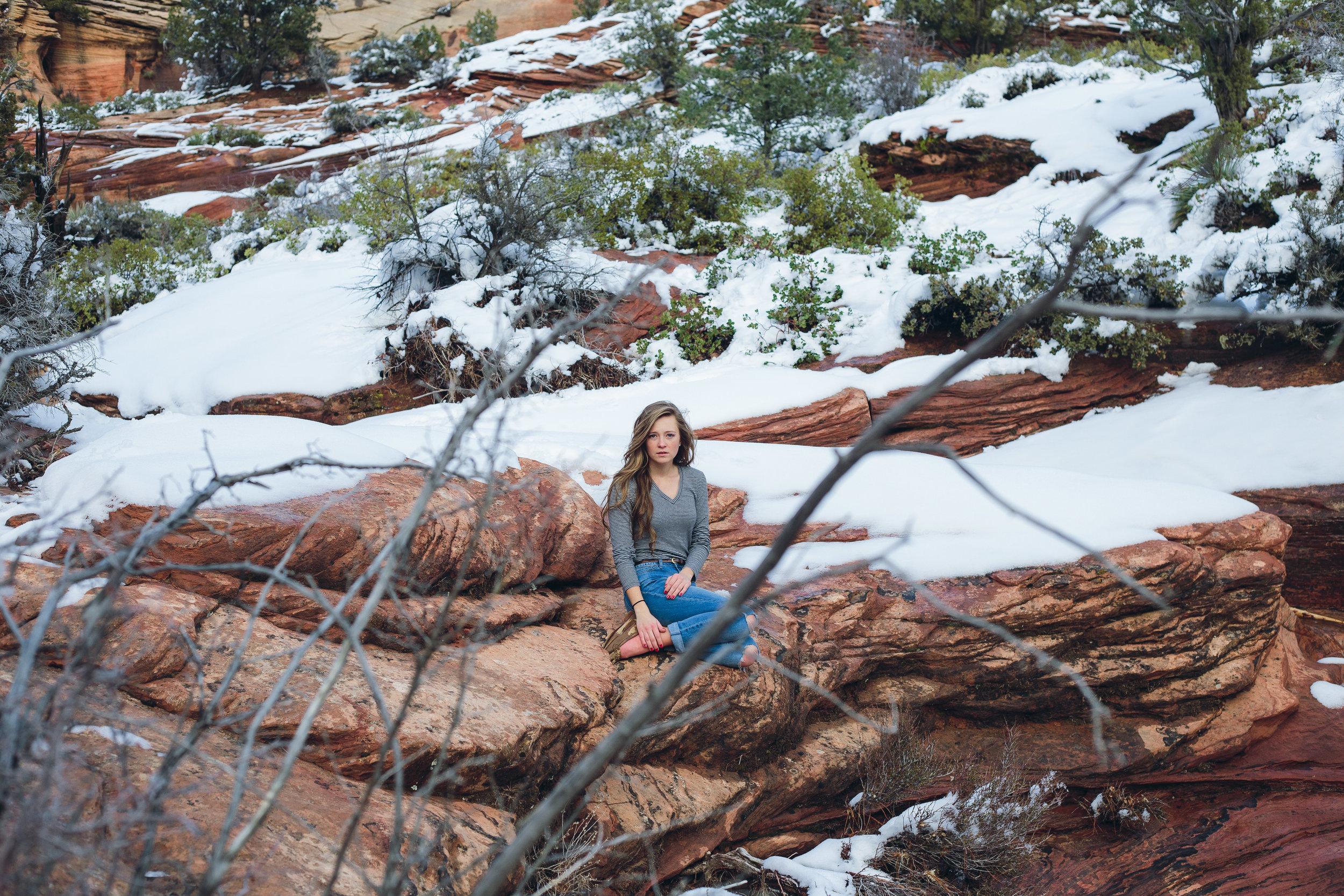 Zion National Park model portrait photography