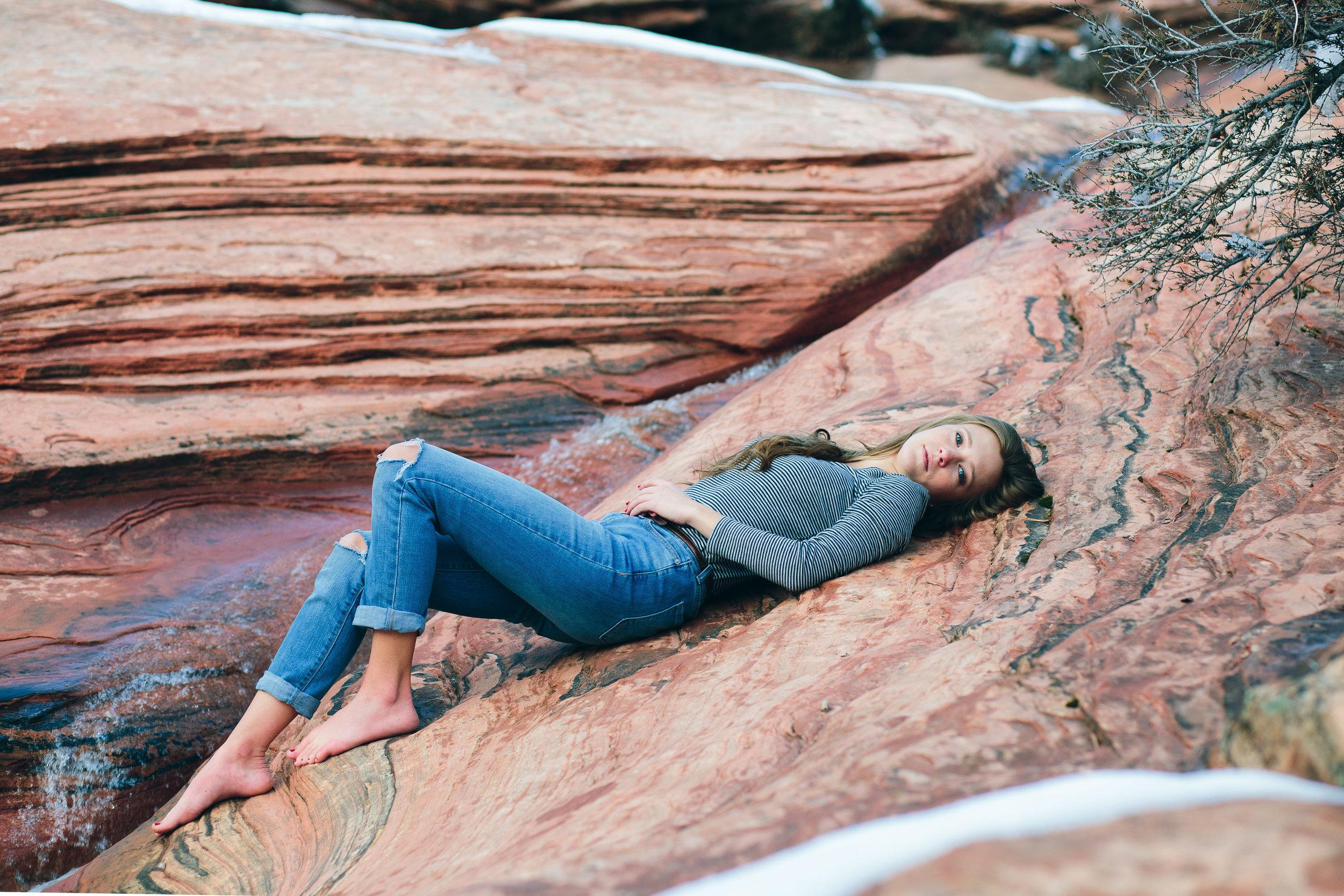Zion National Park model photographer