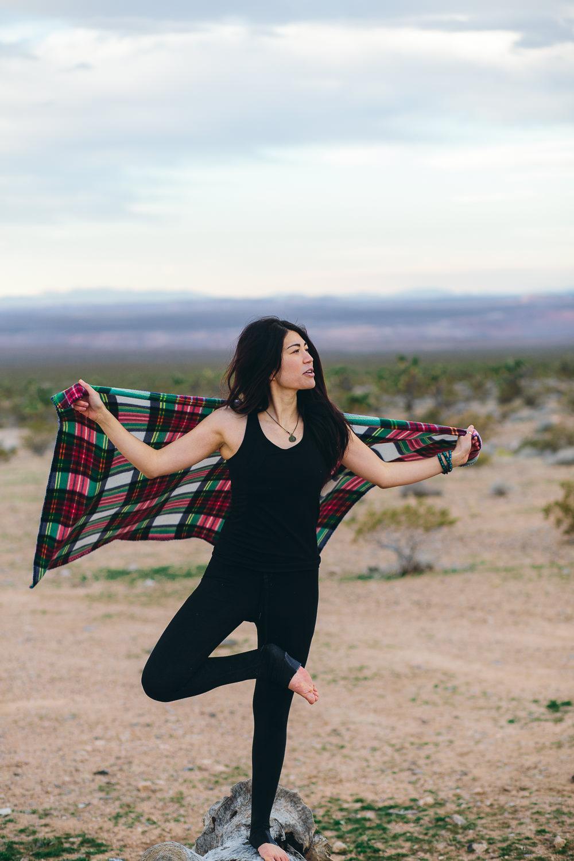 Yoga pose Southern Utah Adventure photographer hybrid film and digital