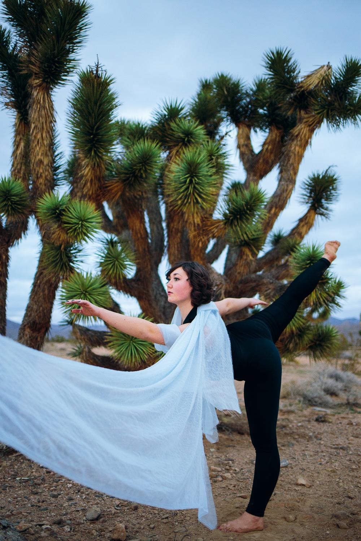 Joshua Tree ribbon dancer Southern Utah Adventure photographer hybrid film and digital