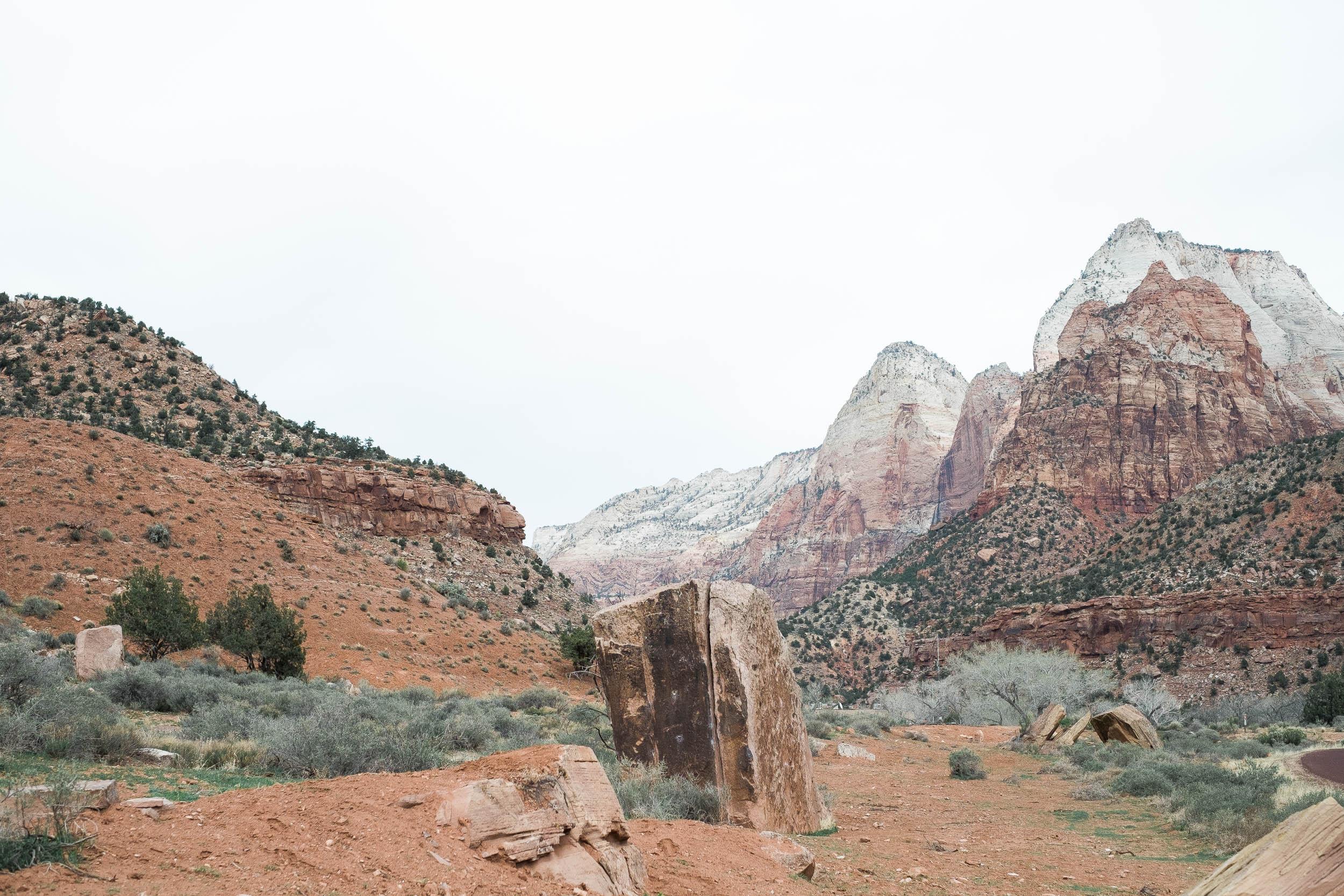 The Globe Boulder Zion National Park Climbing