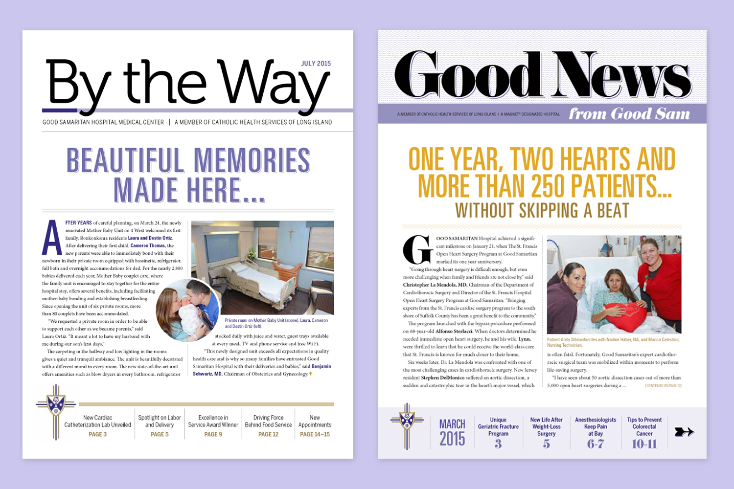 Good Samaritan Hospital Newsletter Designs