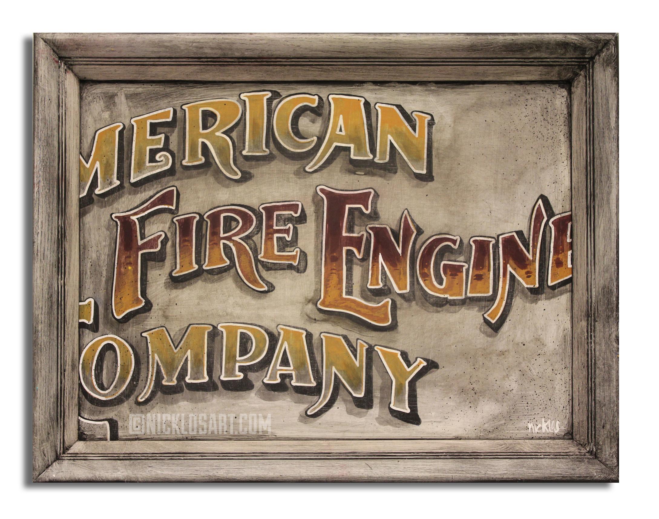 Fire Engine Folk Art