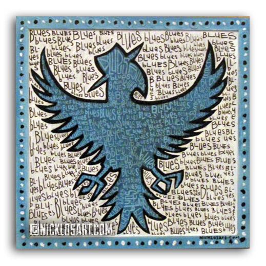 Blues Bird Folk Art