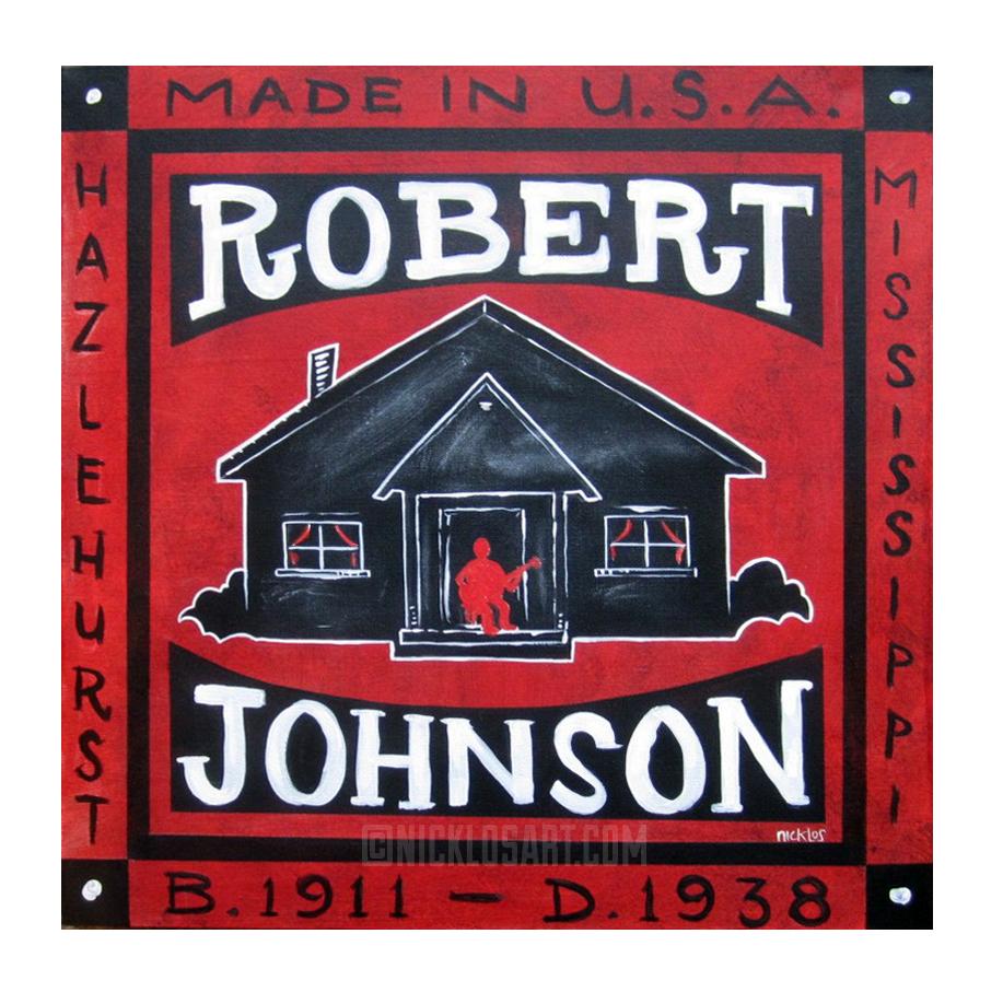 Robert Johnson Memorial Folk Art
