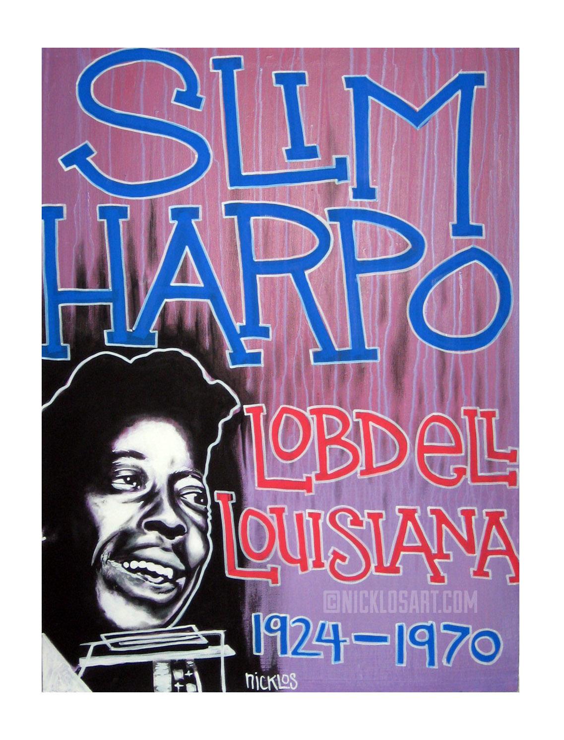 Slim Harpo Folk Art