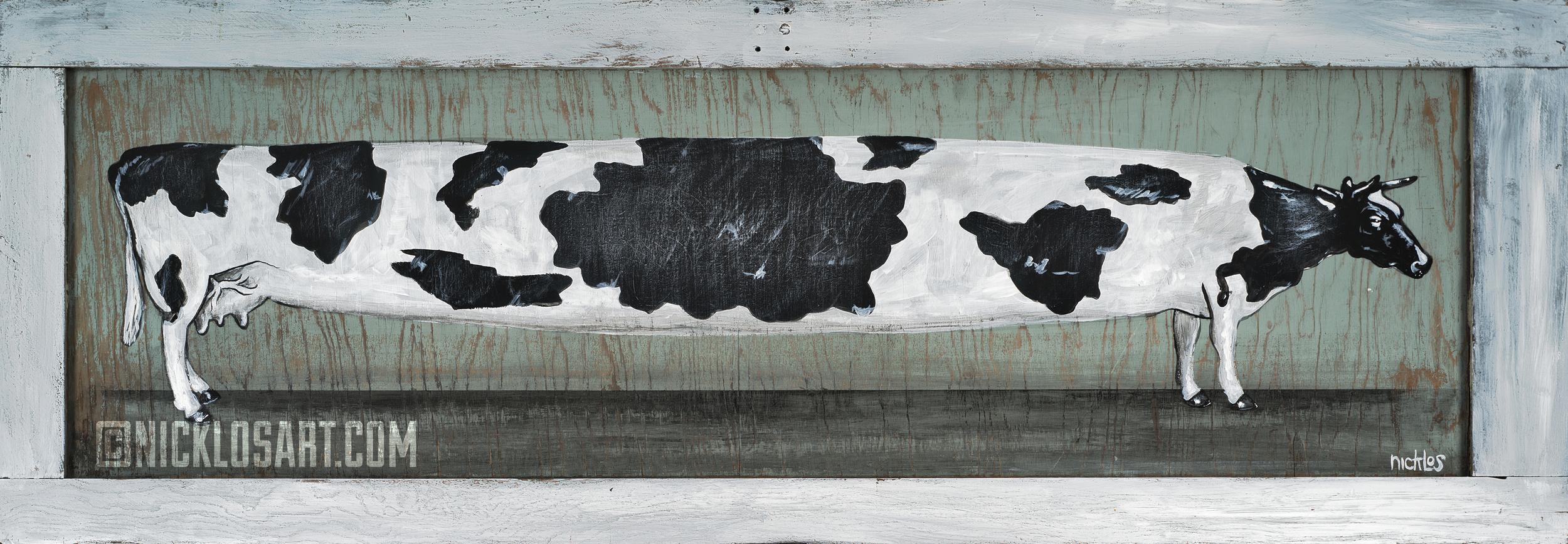 The Longest Cow Folk Art