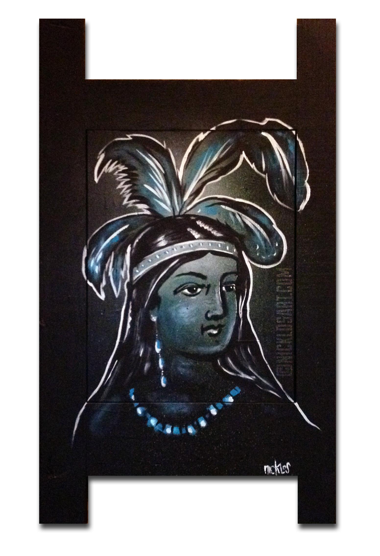 Native Princess Folk Art