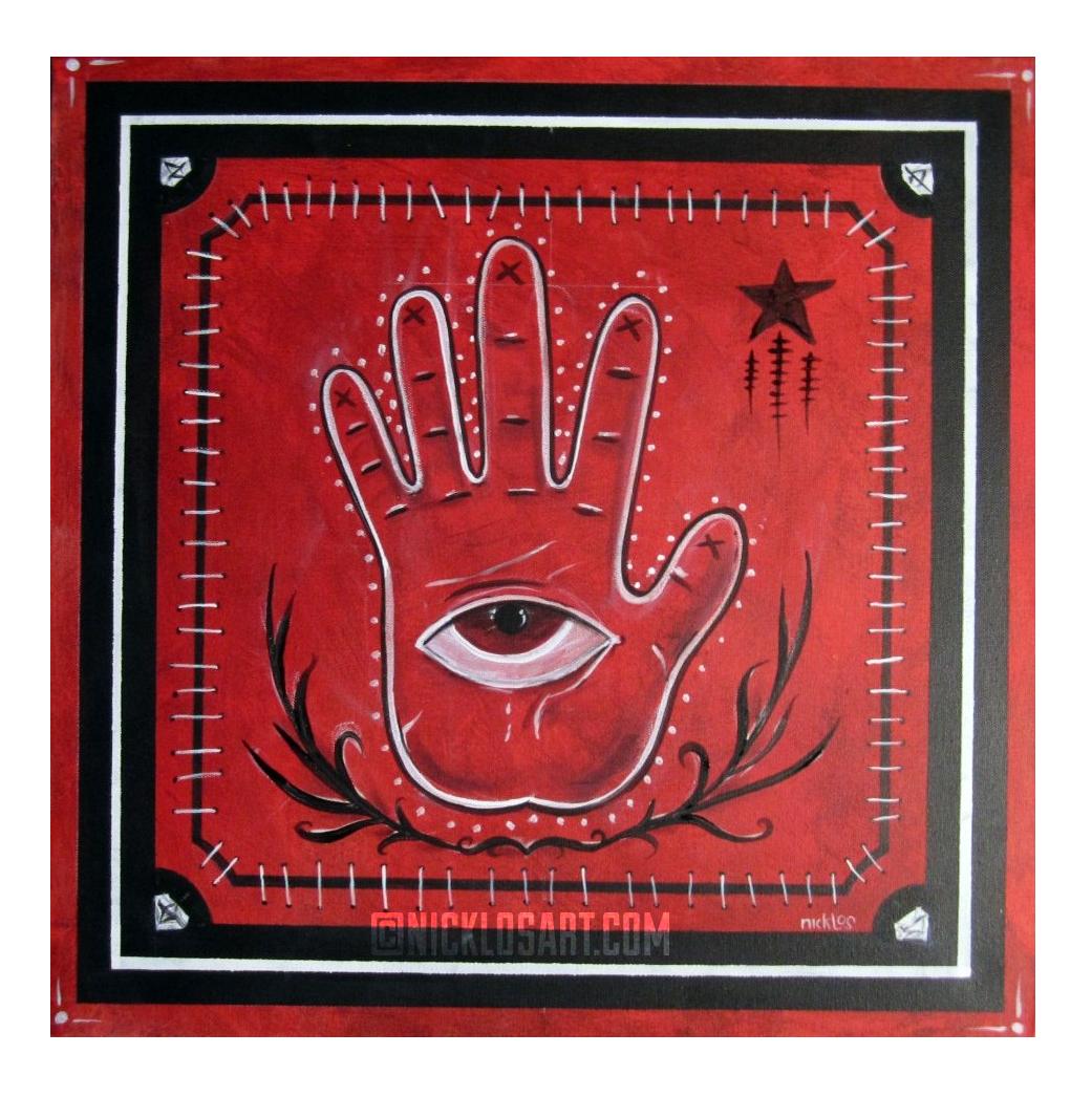 Voodoo Hand Folk Art