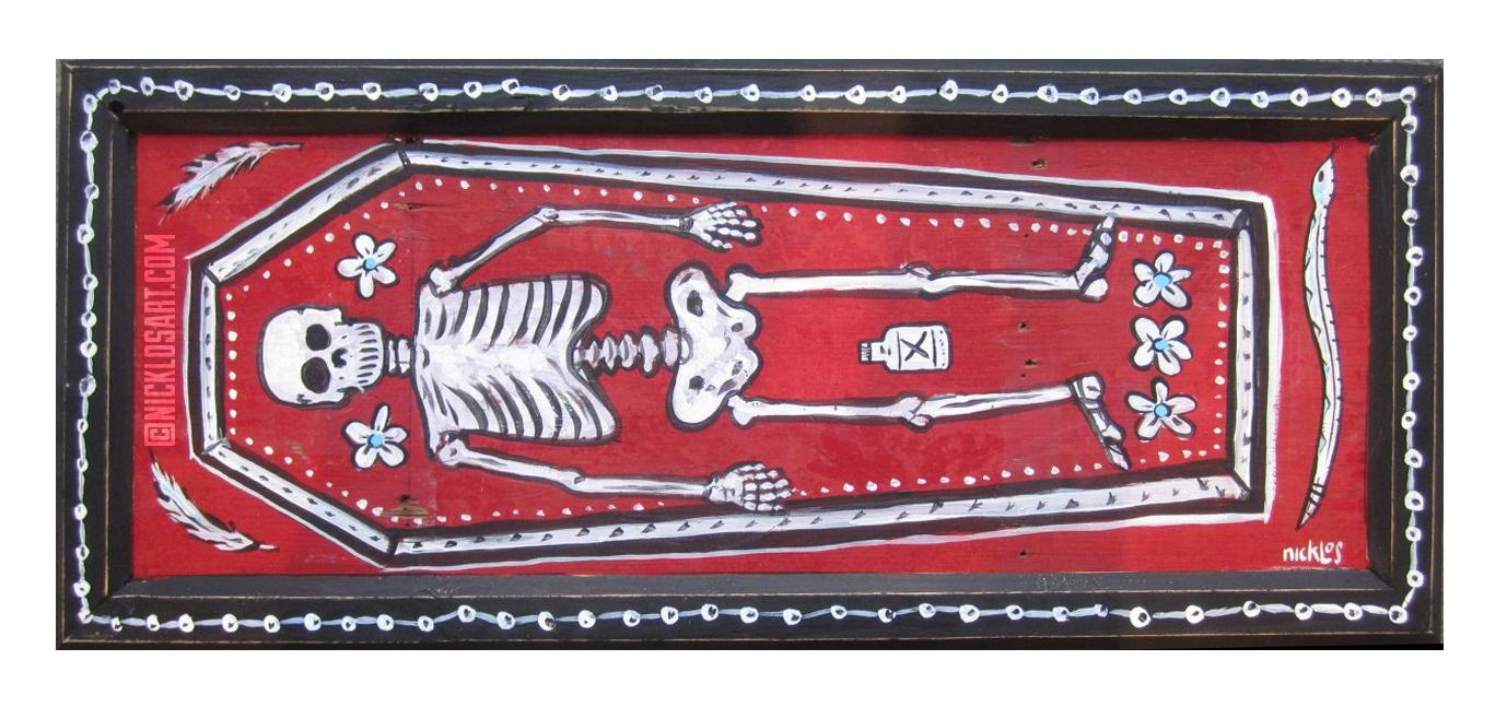 Skeleton Folk Art