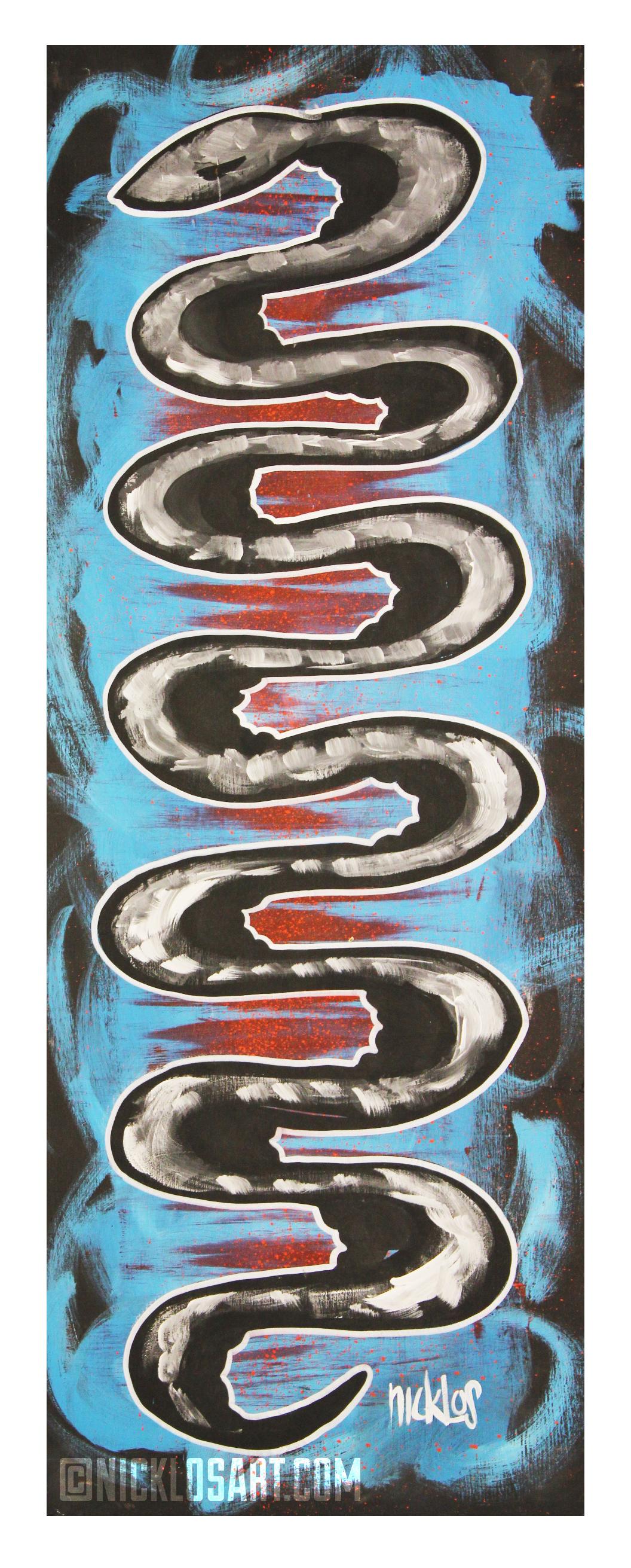 Tall Snake Folk Art