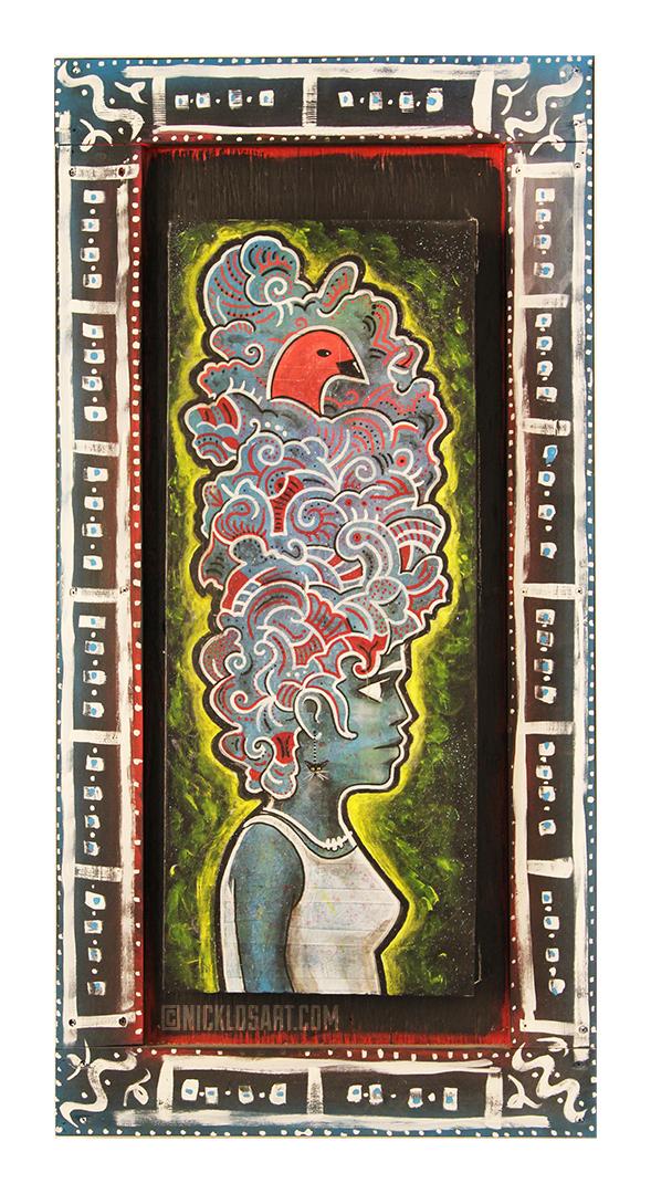 Voodoo Woman Folk Art