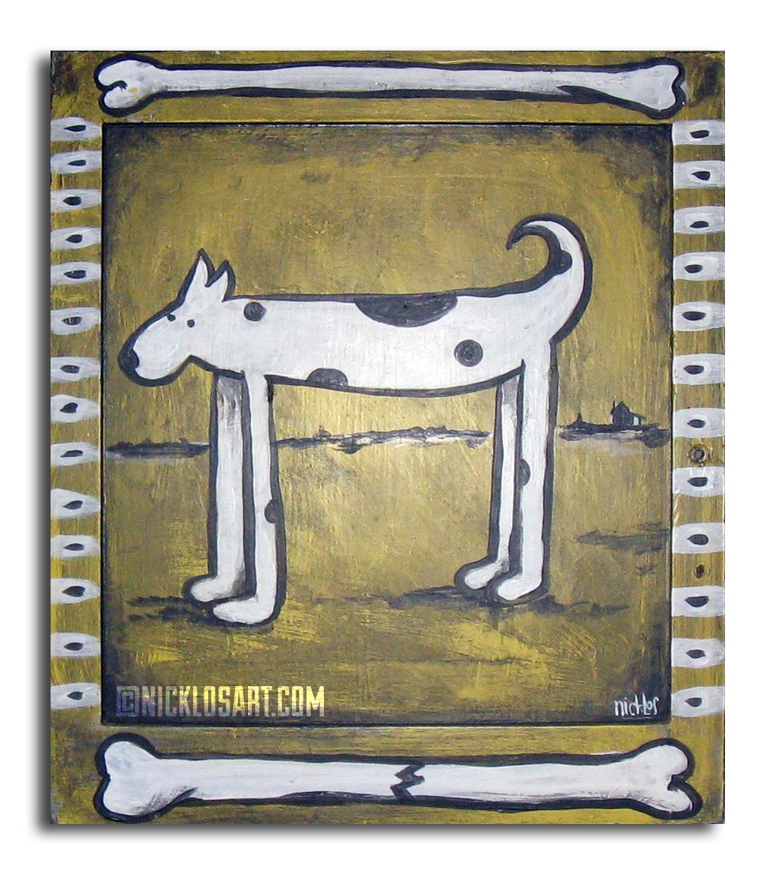 Dog Folk Art