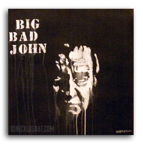 Johnny Cash Folk Art