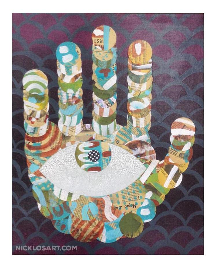 Folk Art Hand with Eye